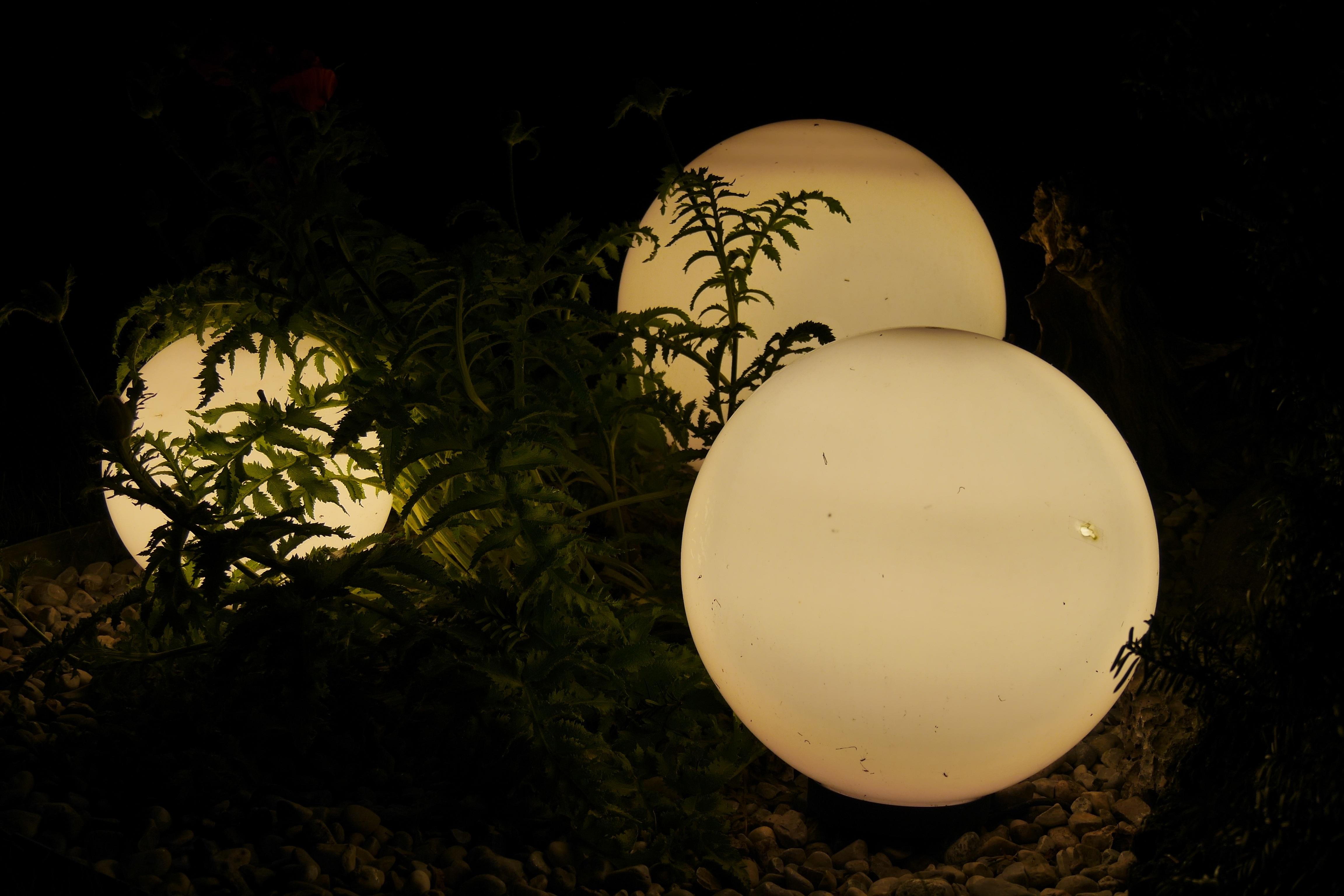 outdoor lighting balls. Light Sun Night Leaf Reflection Color Darkness Yellow Garden Lighting Circle Lights Lamps Balls Shape Macro Outdoor E