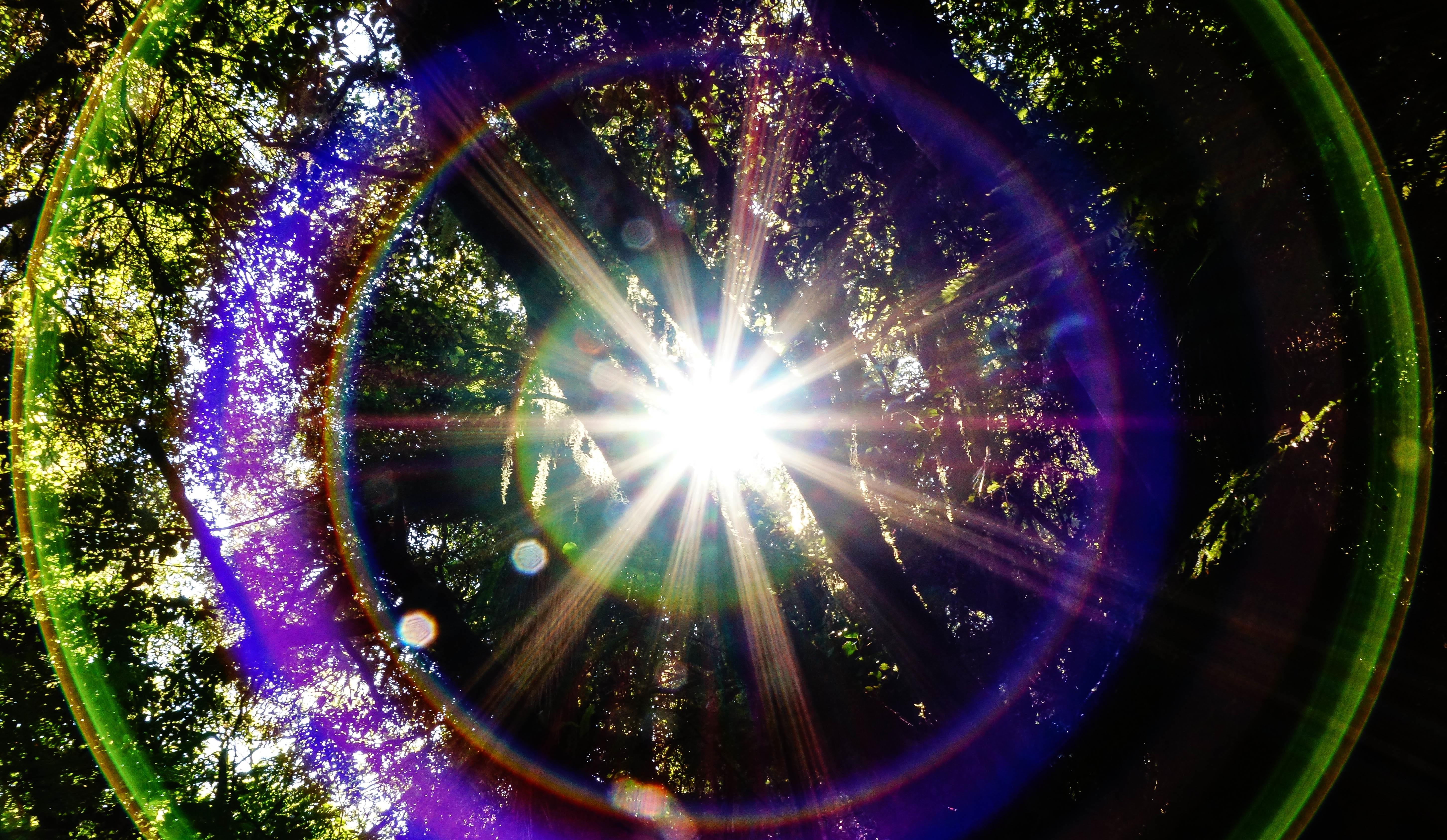 Gambar Cahaya Sinar Matahari Warna Lingkaran Alam Semesta