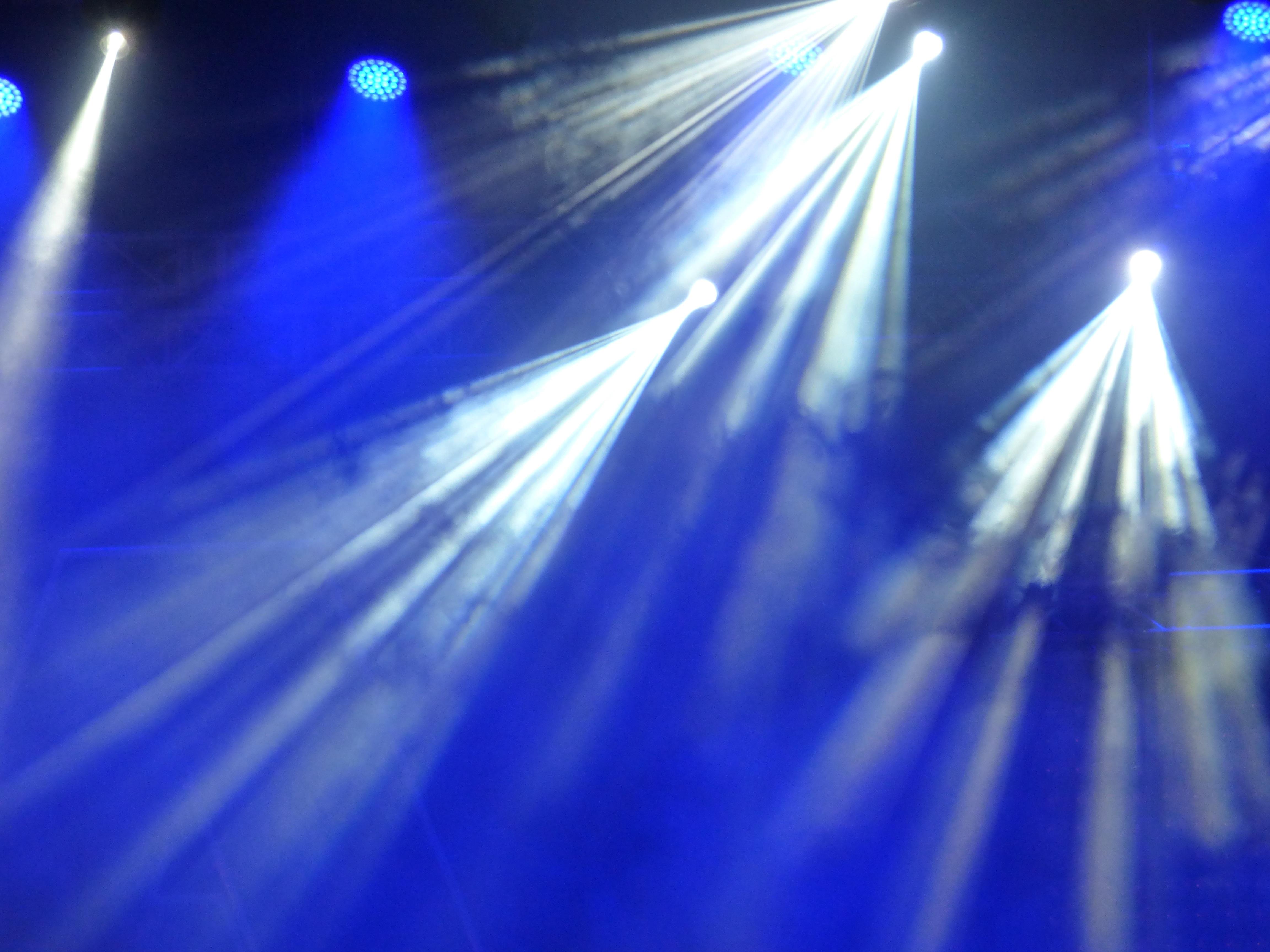 Light Sunlight Concert Reflection Blue Colorful Bulb Lighting Circle Lens Flare Stage Reflex Shape Disco