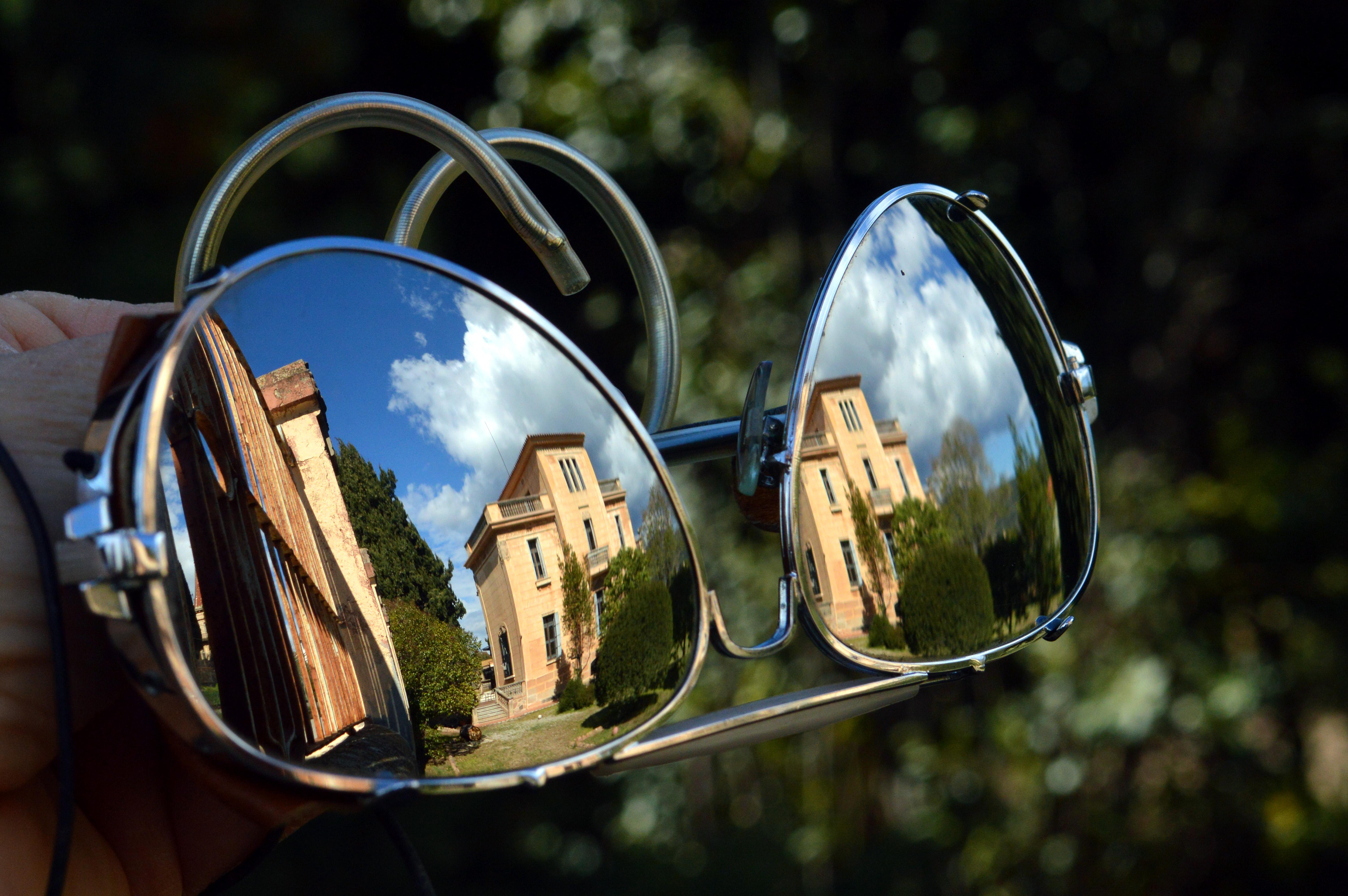 Sunglasses reflection photography - Spiegel im garten ...