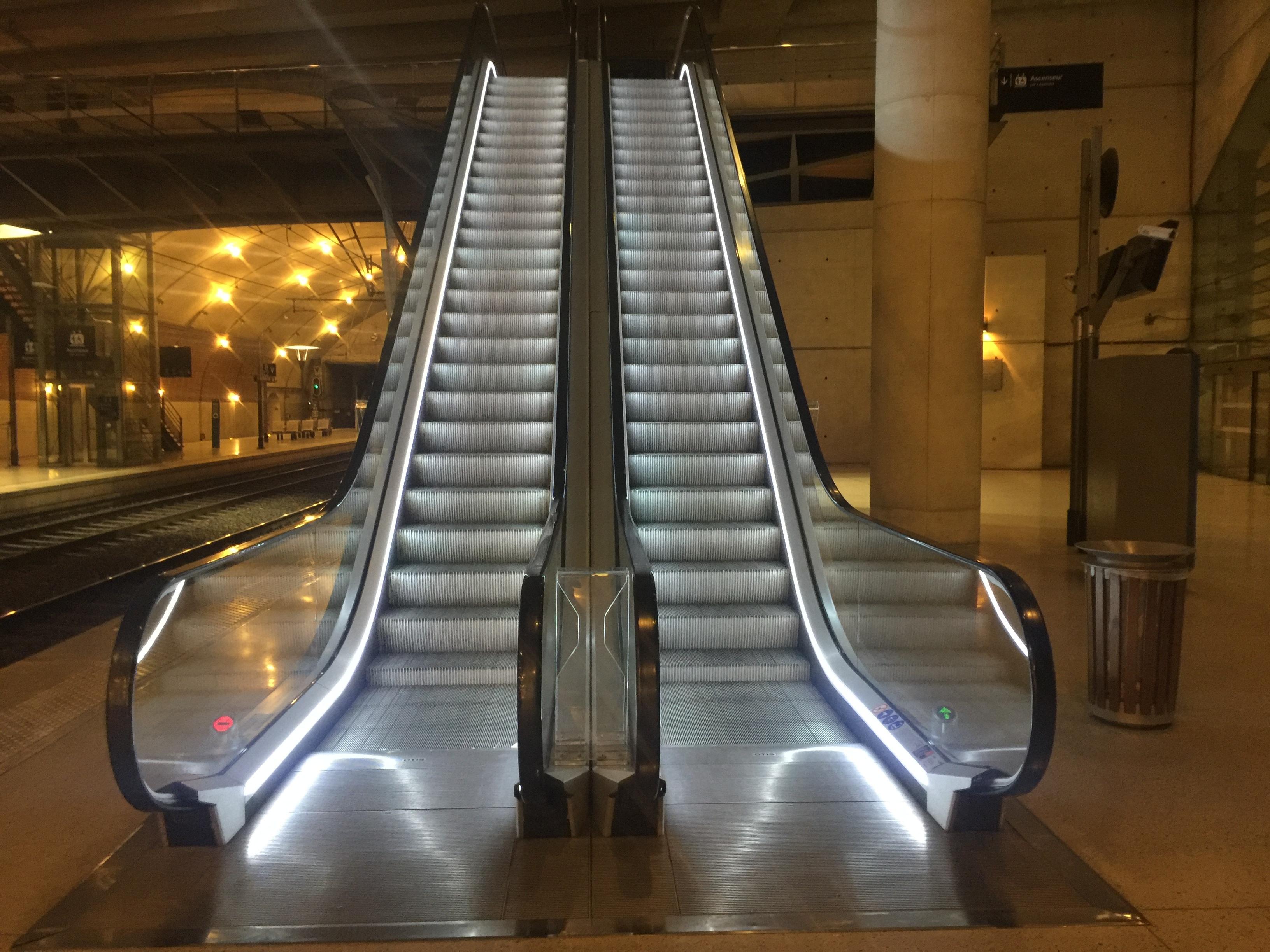 Free Images : light, tunnel, travel, escalator, underground, train ...