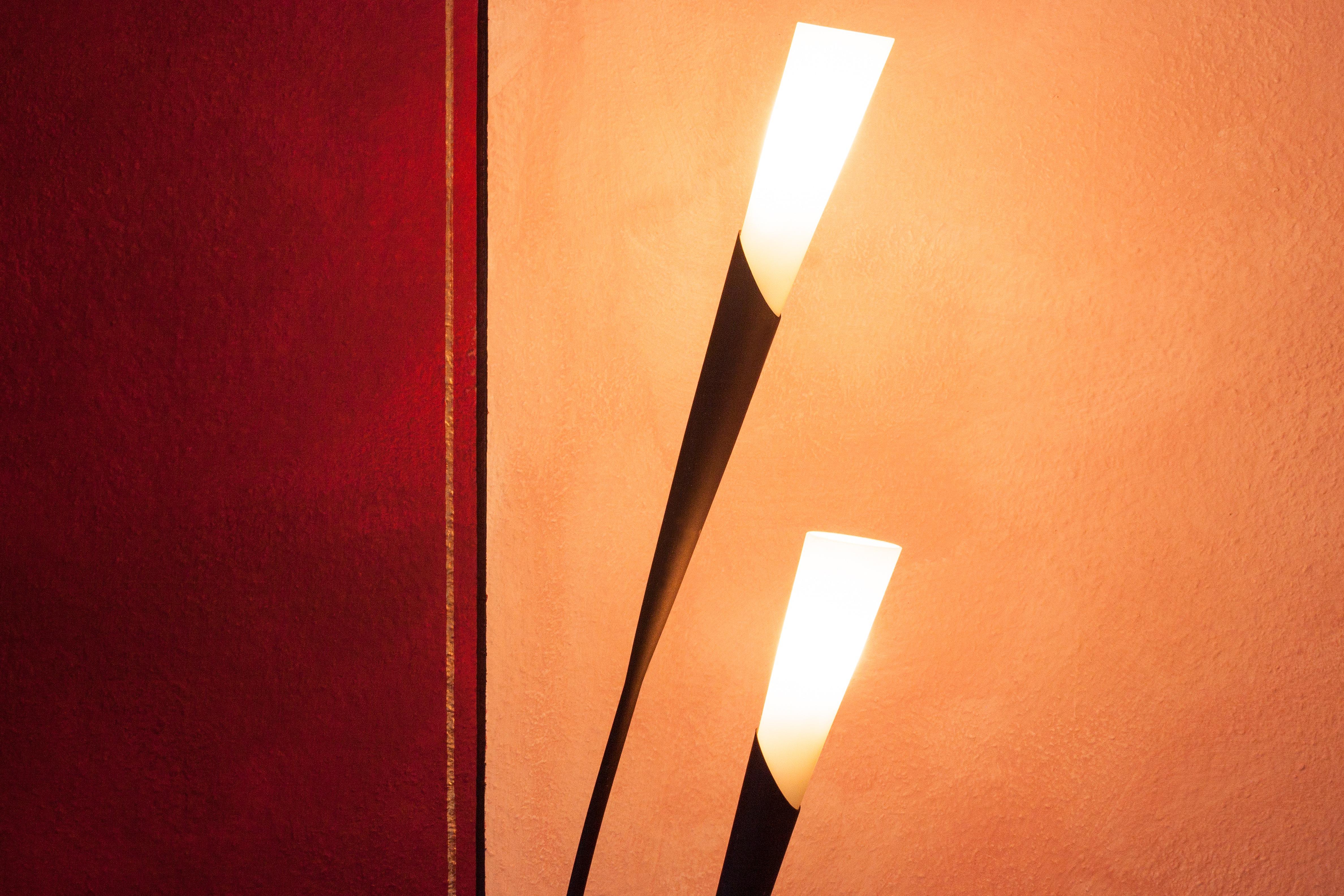 ligero calentar naranja rojo lmpara negro iluminacin flora calor oro diseo brillante lmpara ngulo noble candelabro