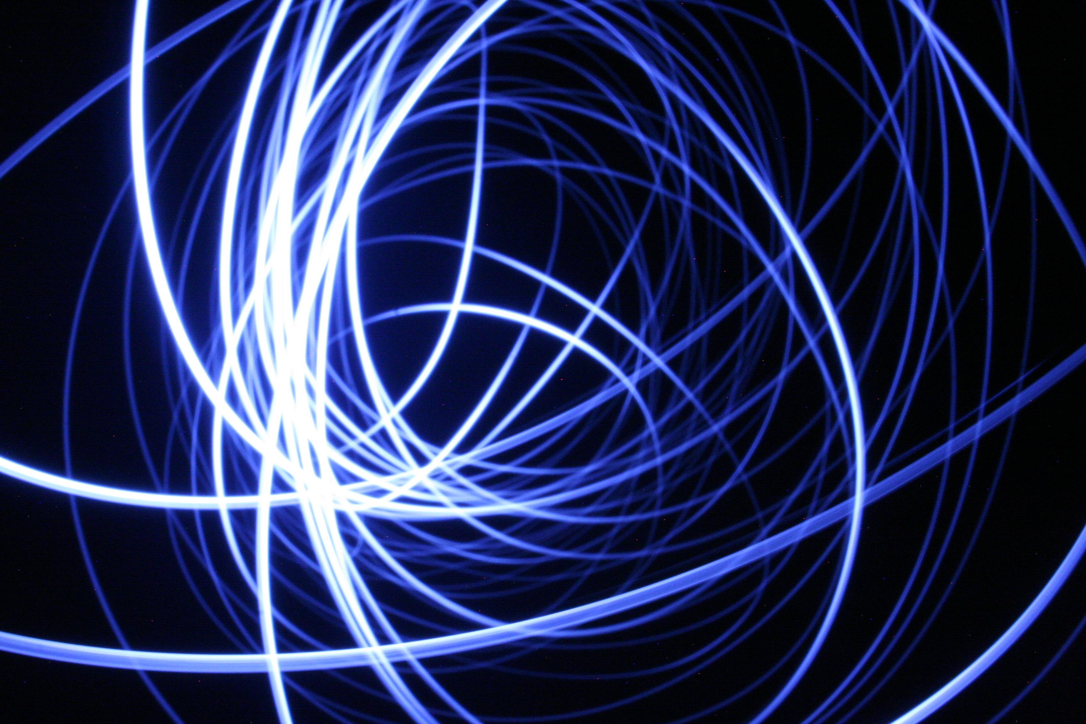 Free Images Wave Cable Line Blue Circle Font Lines Lights