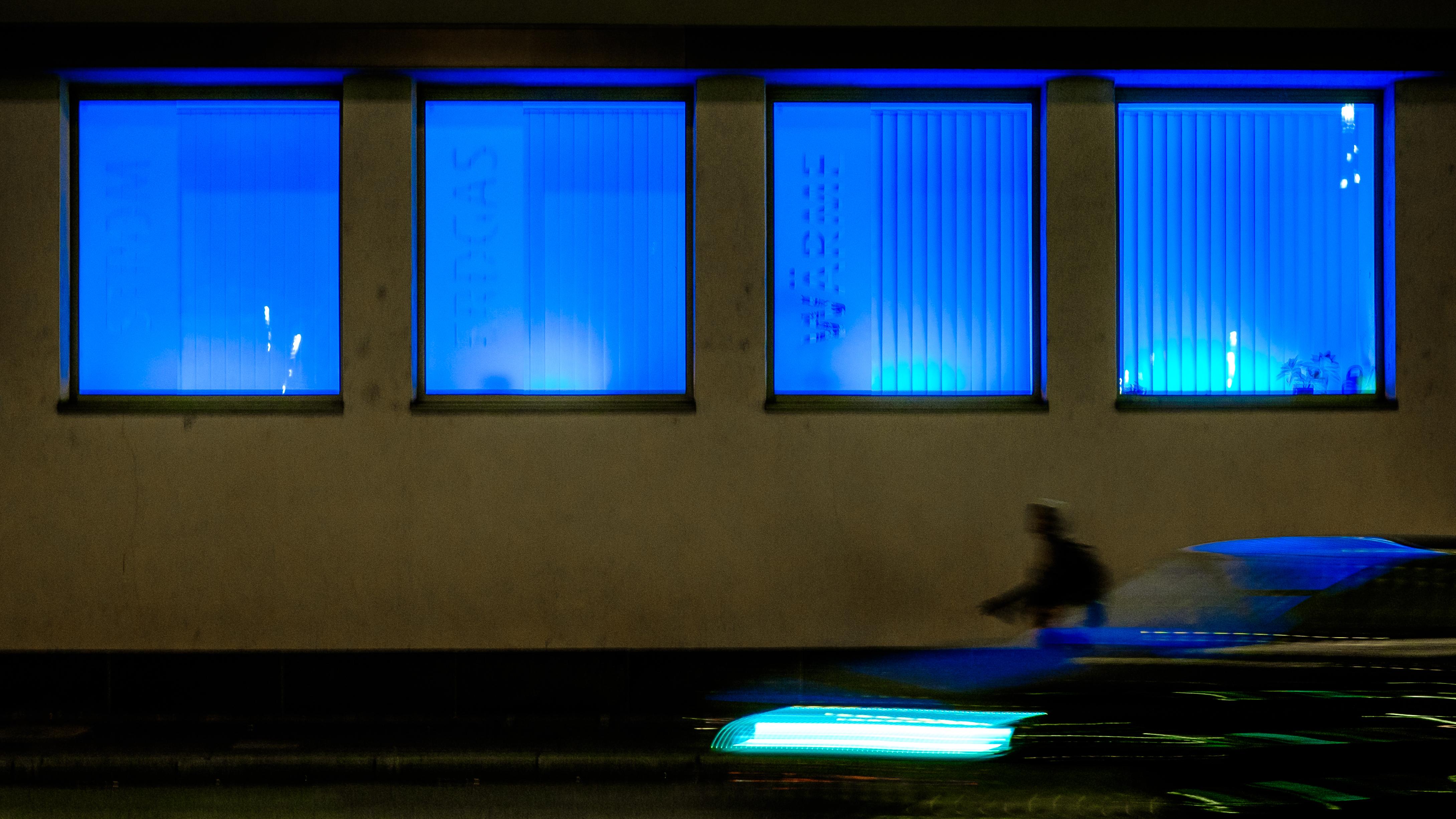 Free Images Light Window Color Blue Lighting