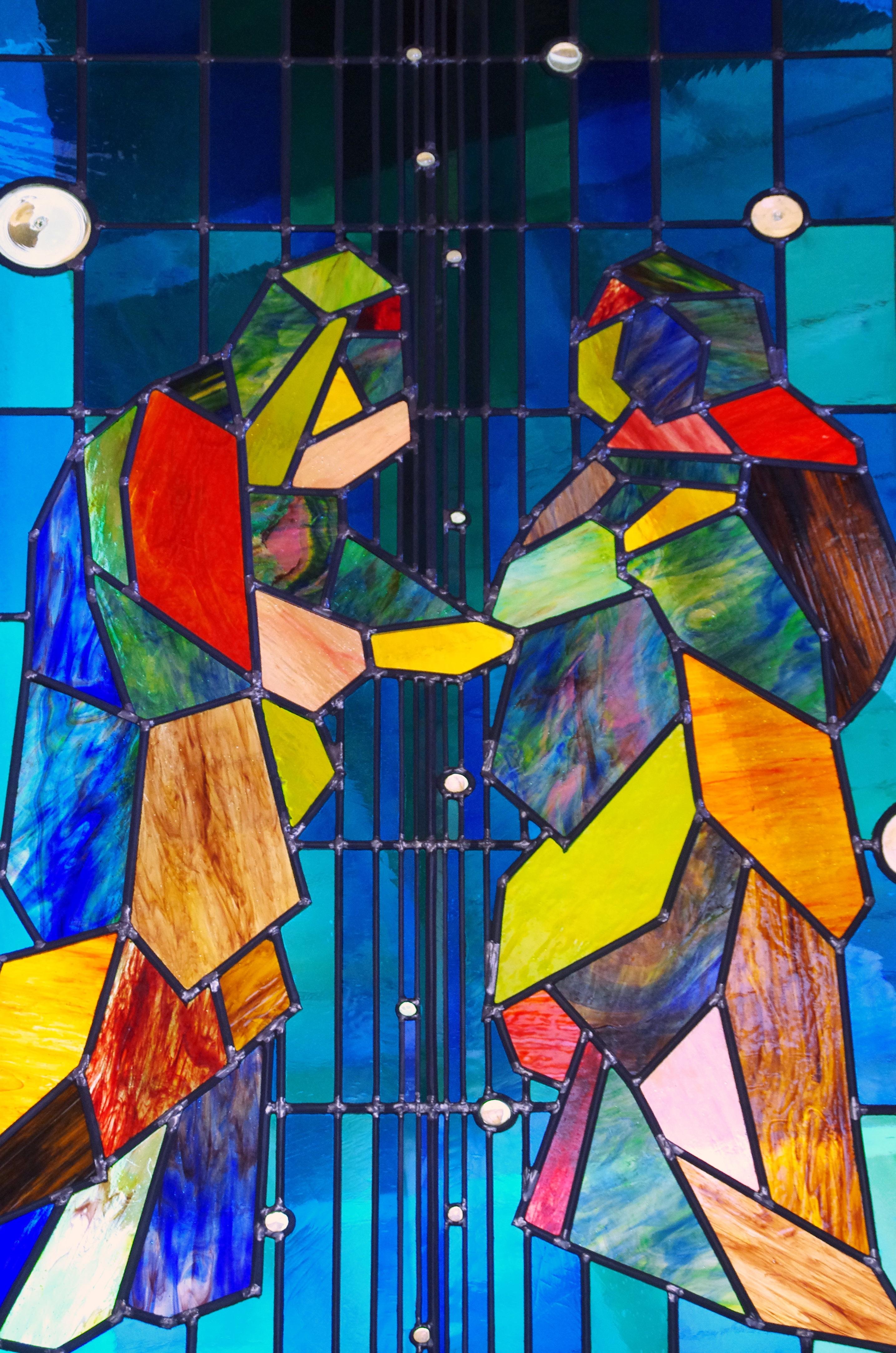 Fotoğraf ışık Pencere Bardak Renk Malzeme Vitray Boyama