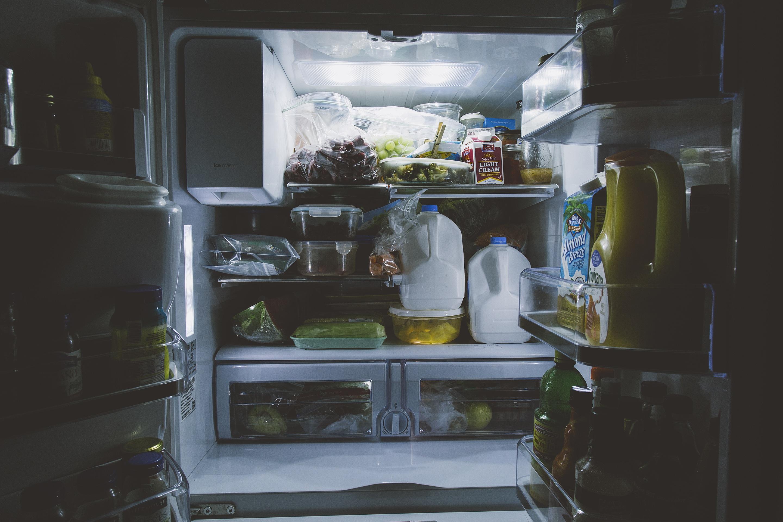 Light Window Home Food Vehicle Kitchen Shelf Room Milk Interior Design  Inside Bottles Vegetables Refrigerator Gallon