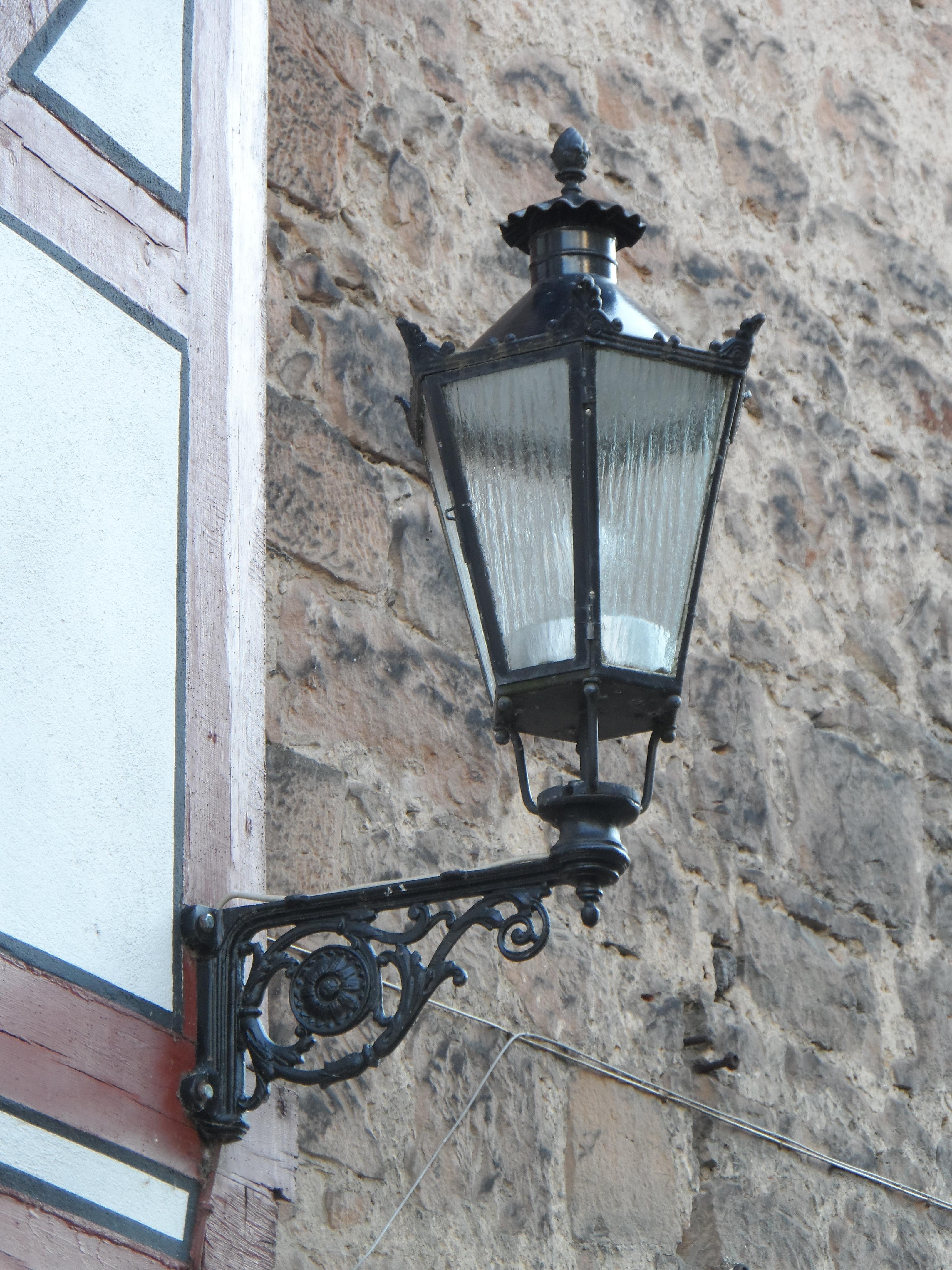 Light Window Old Wall Lantern Street Light Lamp Lighting Decor Street Lamp  Ornament Light Fixture Iron