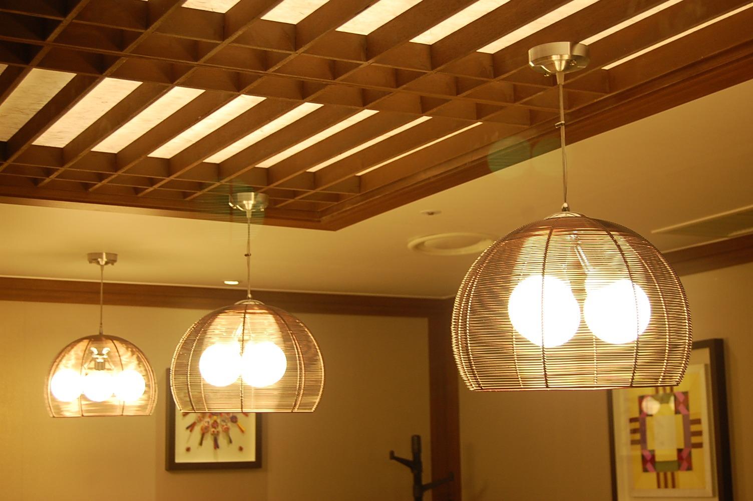 Light Wood Beam Ceiling Room