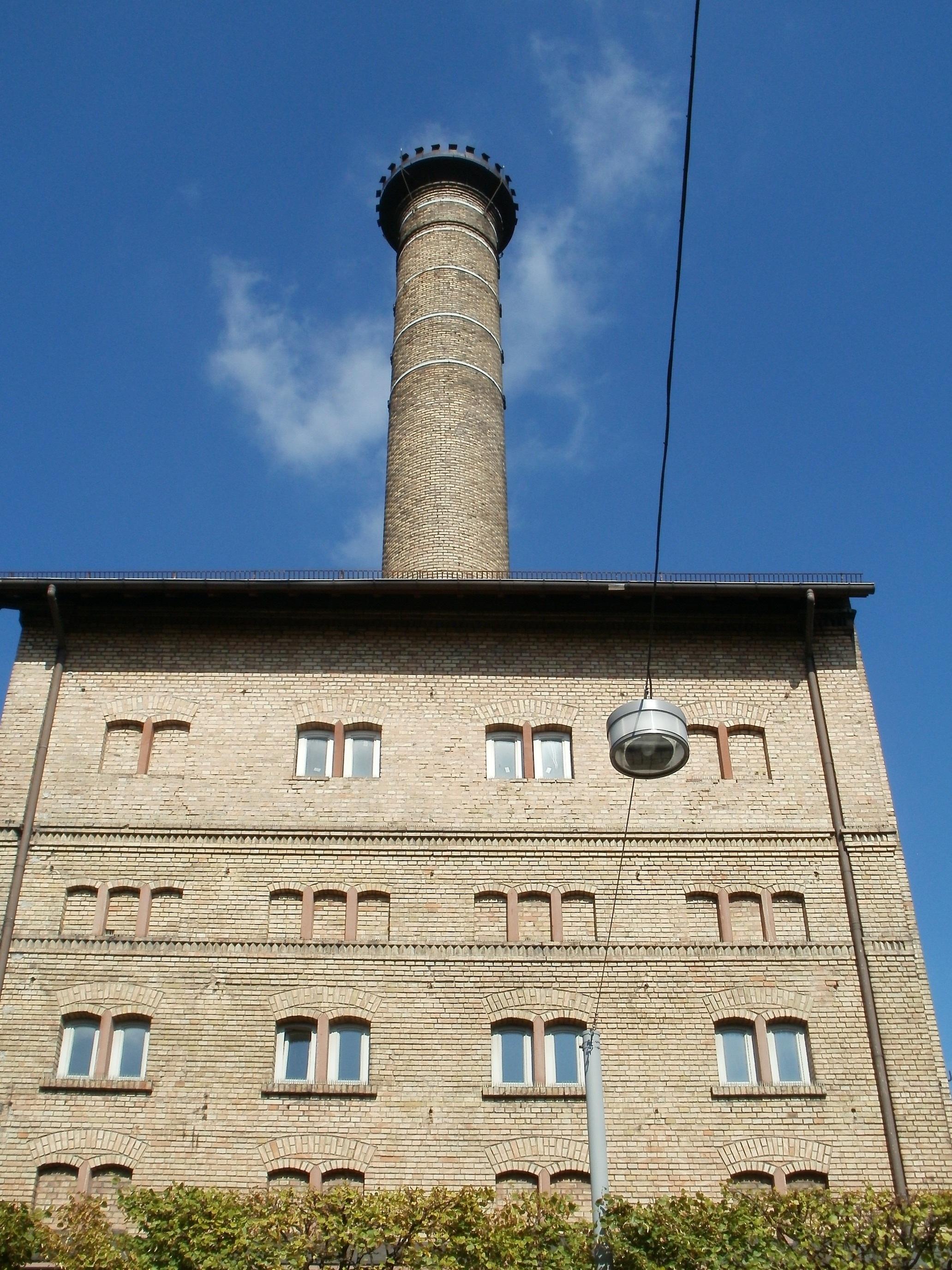 faro planta edificio antiguo construccin torre tubo de lmpara punto de referencia fachada industrial fbrica azul