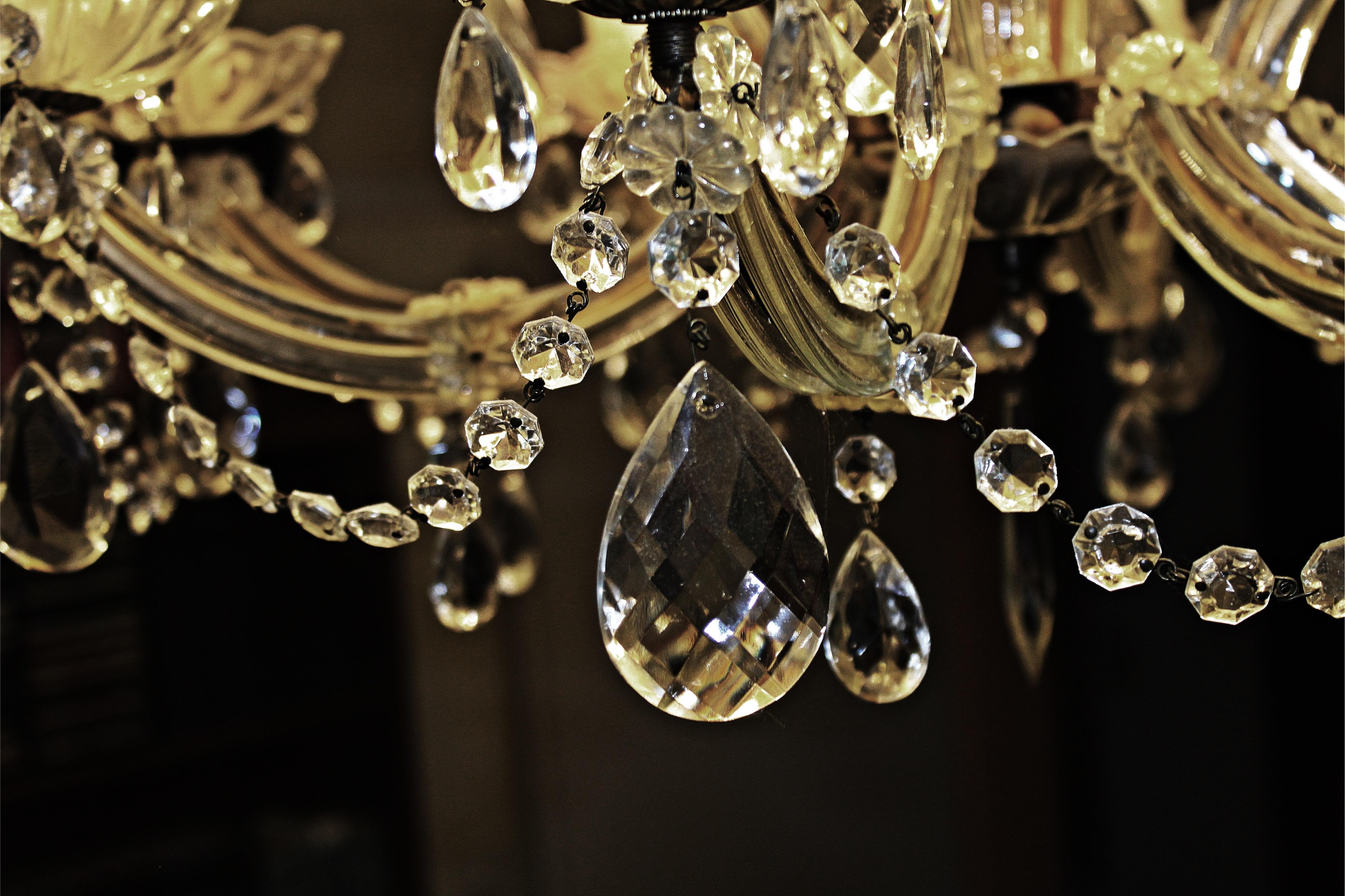 무료 이미지 장식 촛대 인테리어 디자인 전등 대기 실내 조명 크리스탈 유리 크리스탈