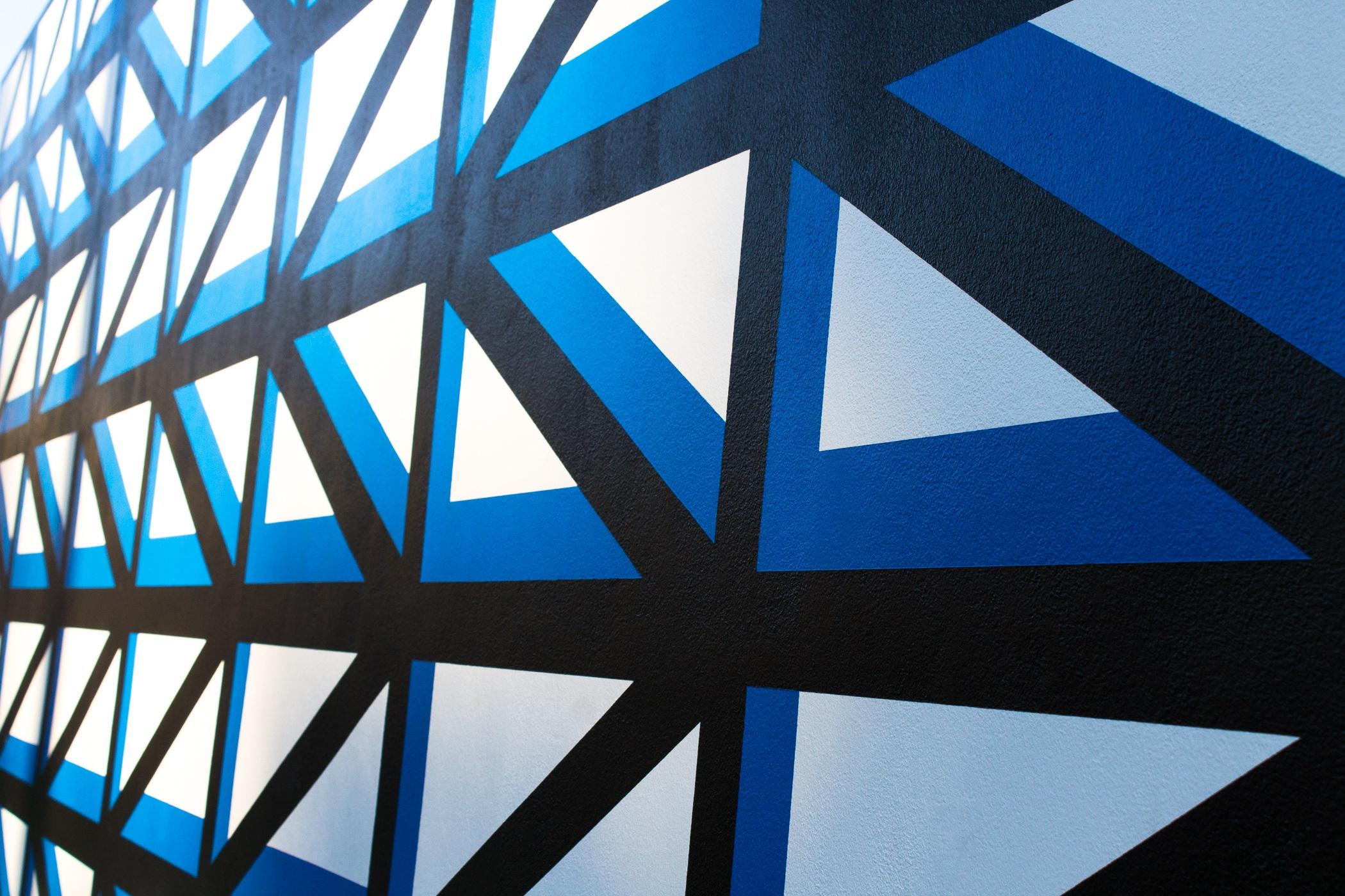 Gambar Garis Warna Biru Lingkaran Seni Baris Latar Belakang Desain