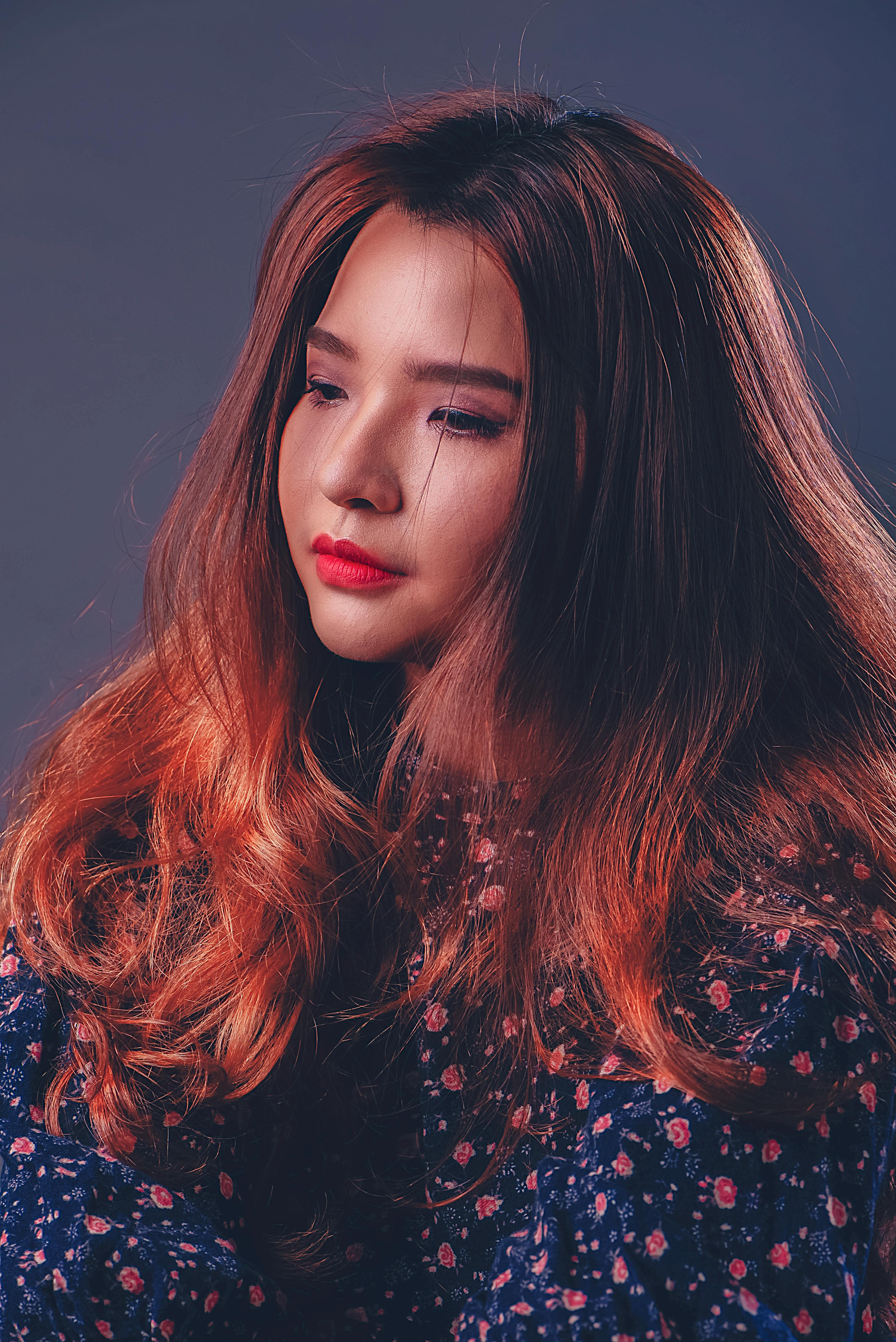 Warna rambut manusia wanita bibir hairstyle rambut merah rambut panjang pewarnaan rambut model fesyen dahi rambut coklat rambut hitam rambut