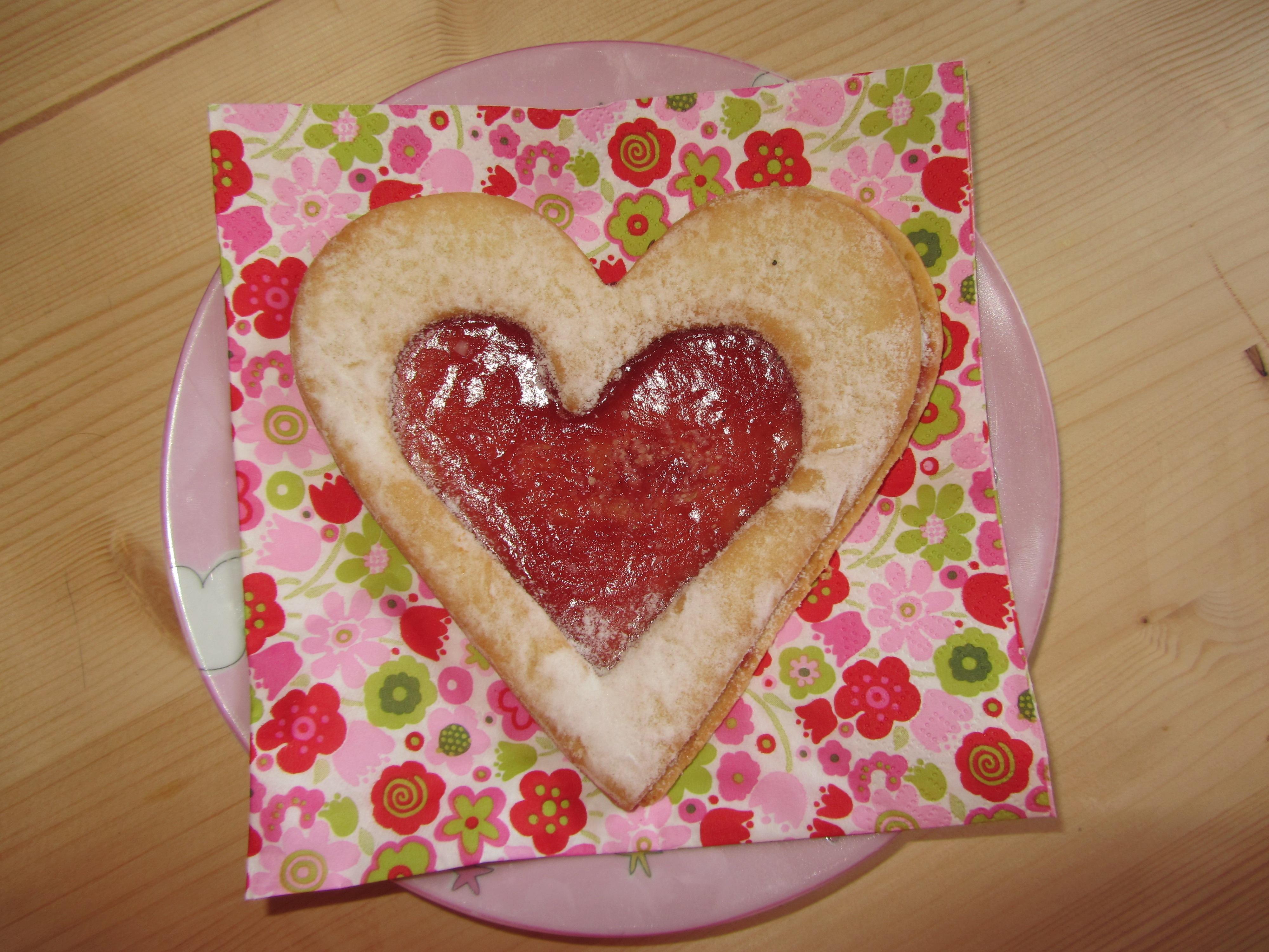 Liebe Herz Gericht Lebensmittel Rot Symbol Romantik Backen Keks Plätzchen  Dessert Kuchen Marke Herz Geformt Glasur
