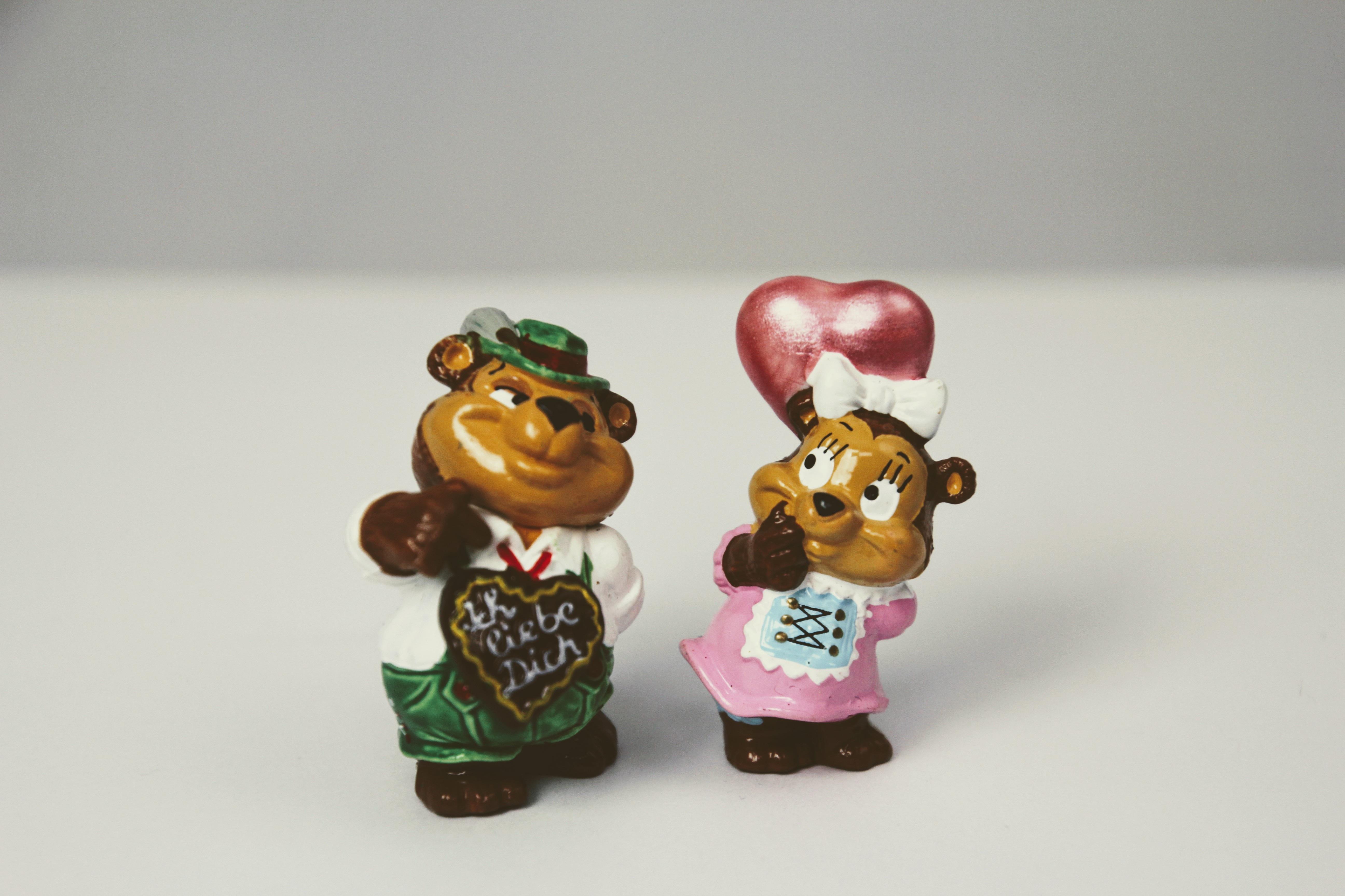love heart food toy miniature art figurine toys lovers pair flirt  berraschungseifigur