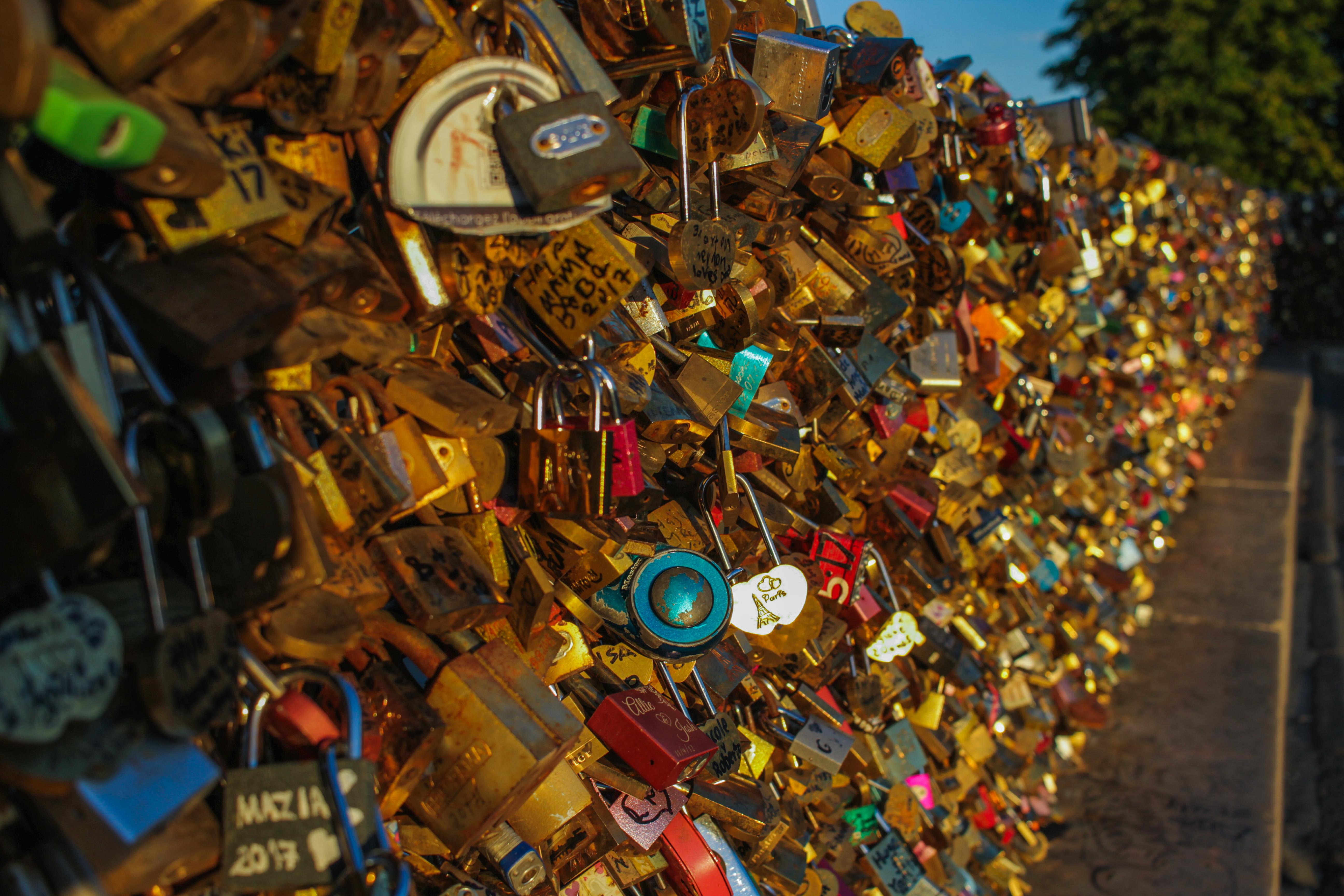Free Images : love, locks, yellow, waste, scrap 5184x3456 - Rob ...