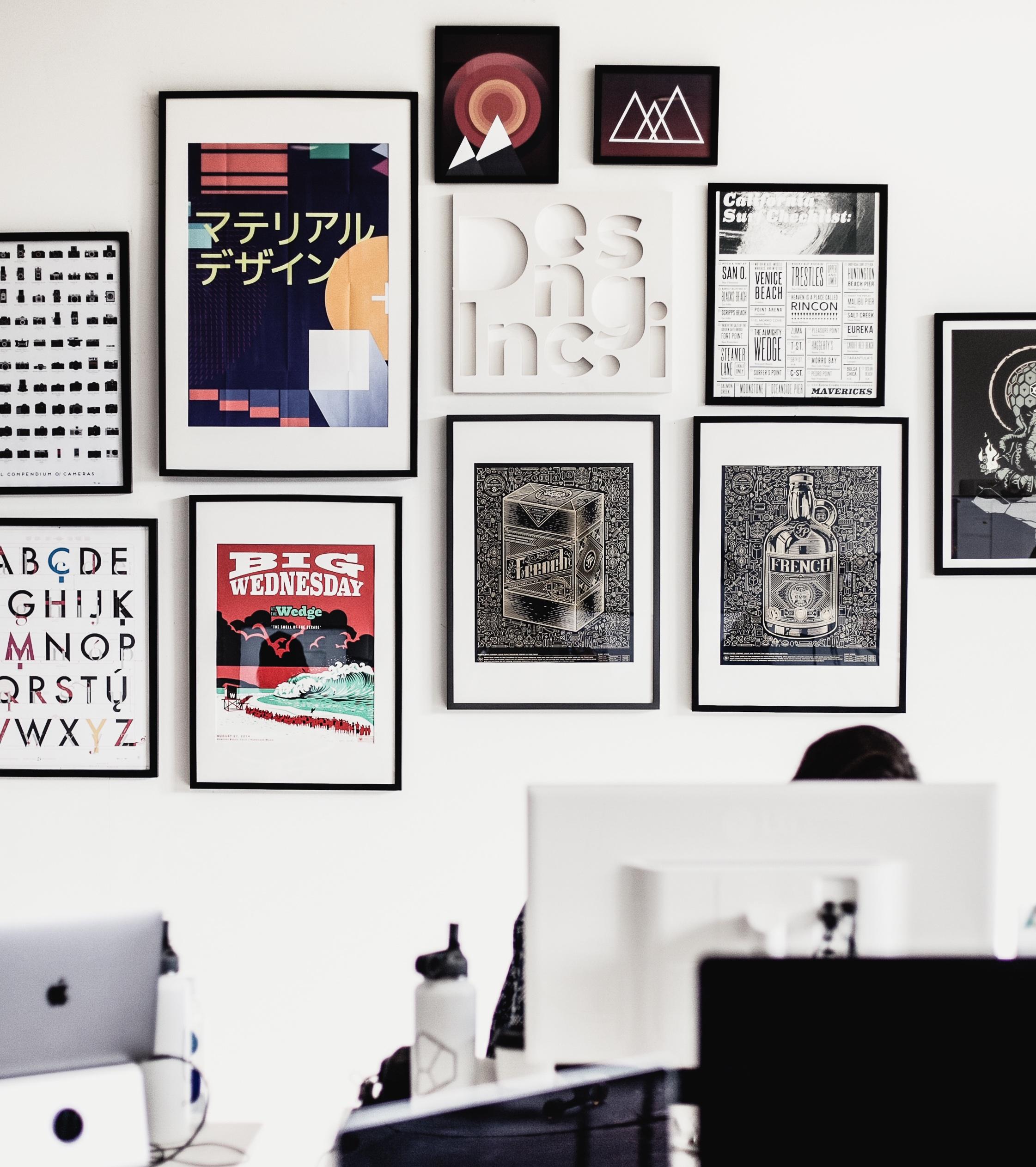 Mac Working Worke Office Brand Art Peson Ilration Design Picture Frame Modern