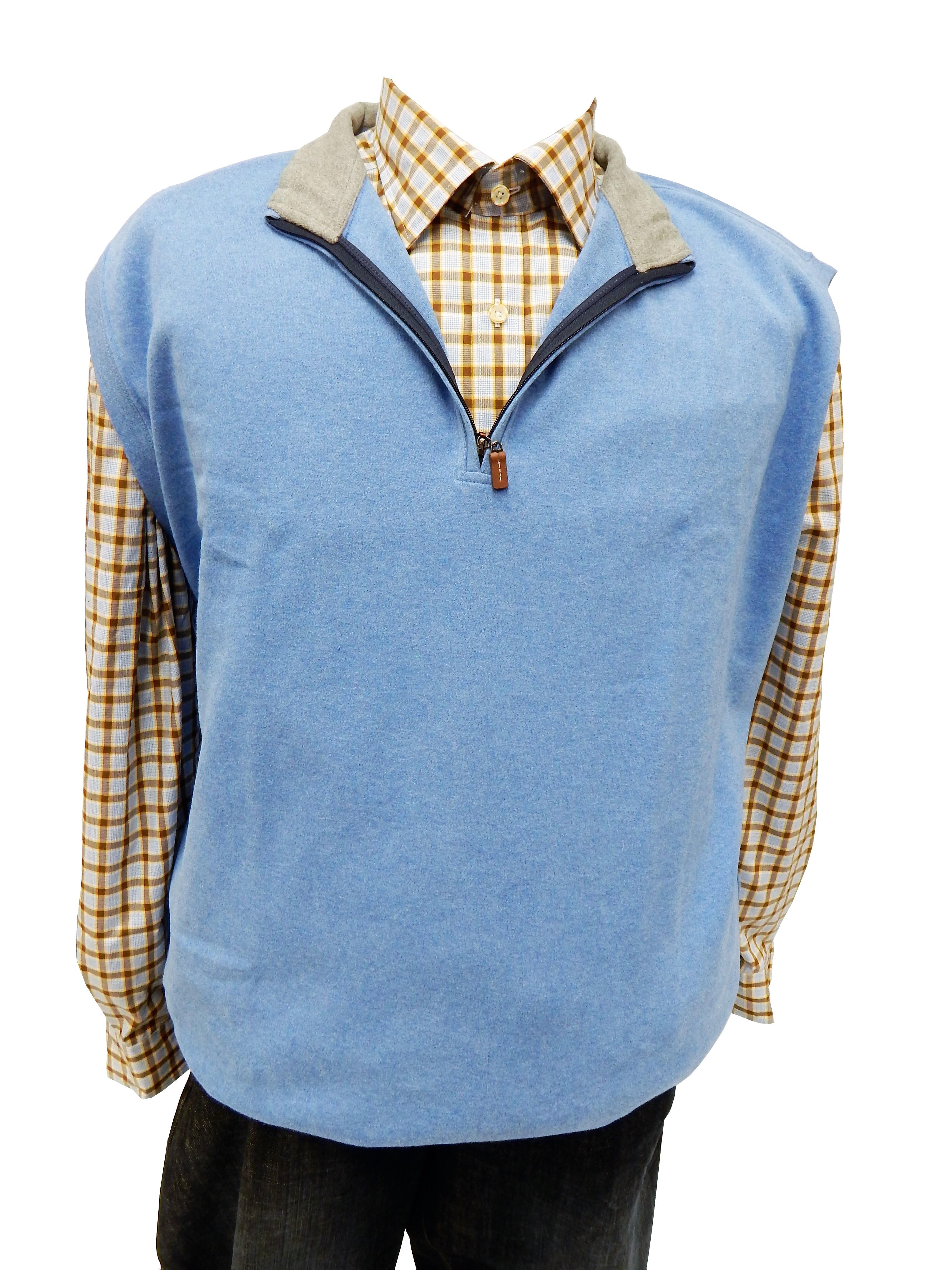 Desain t shirt kerah - Pria Pola Mode Biru Pakaian Tudung Pakaian Luar Bahan Kemeja Denim Switer Kap Kerah Tekstil Desain