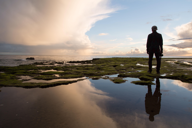 Free Images : man, beach, landscape, sea, coast, nature ...