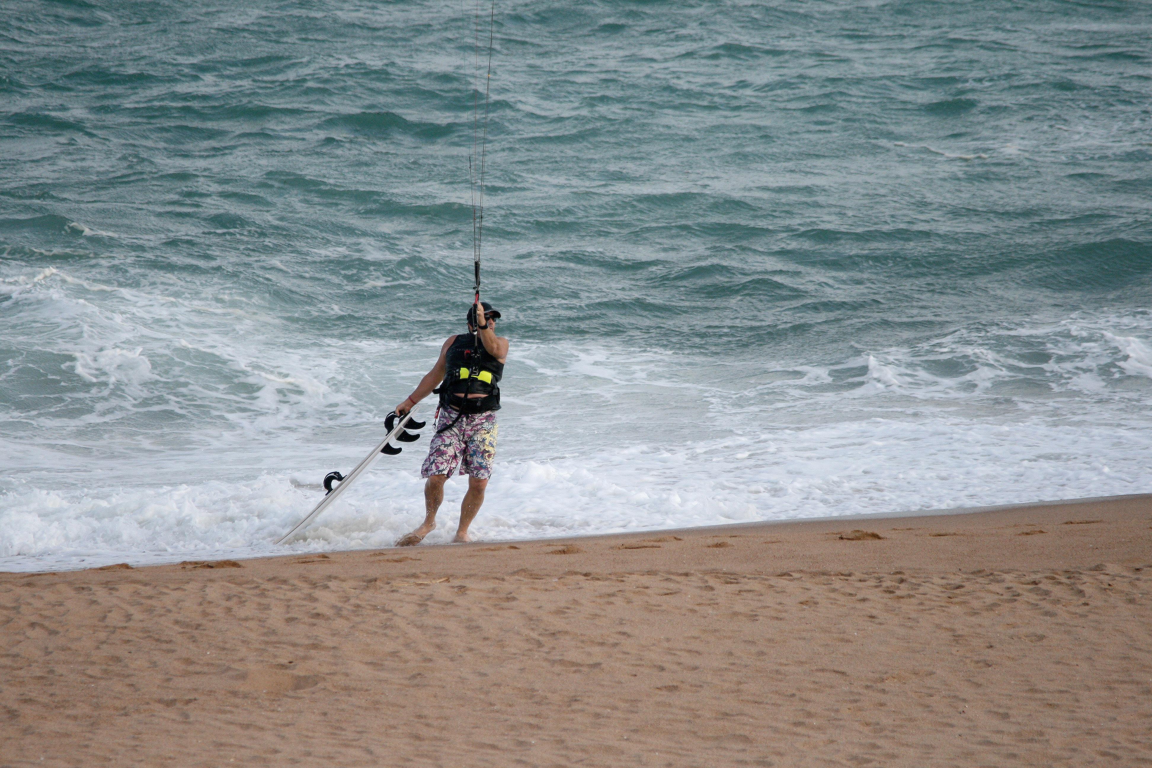 Free Images : man, sea, coast, sand, ocean, board, rigging