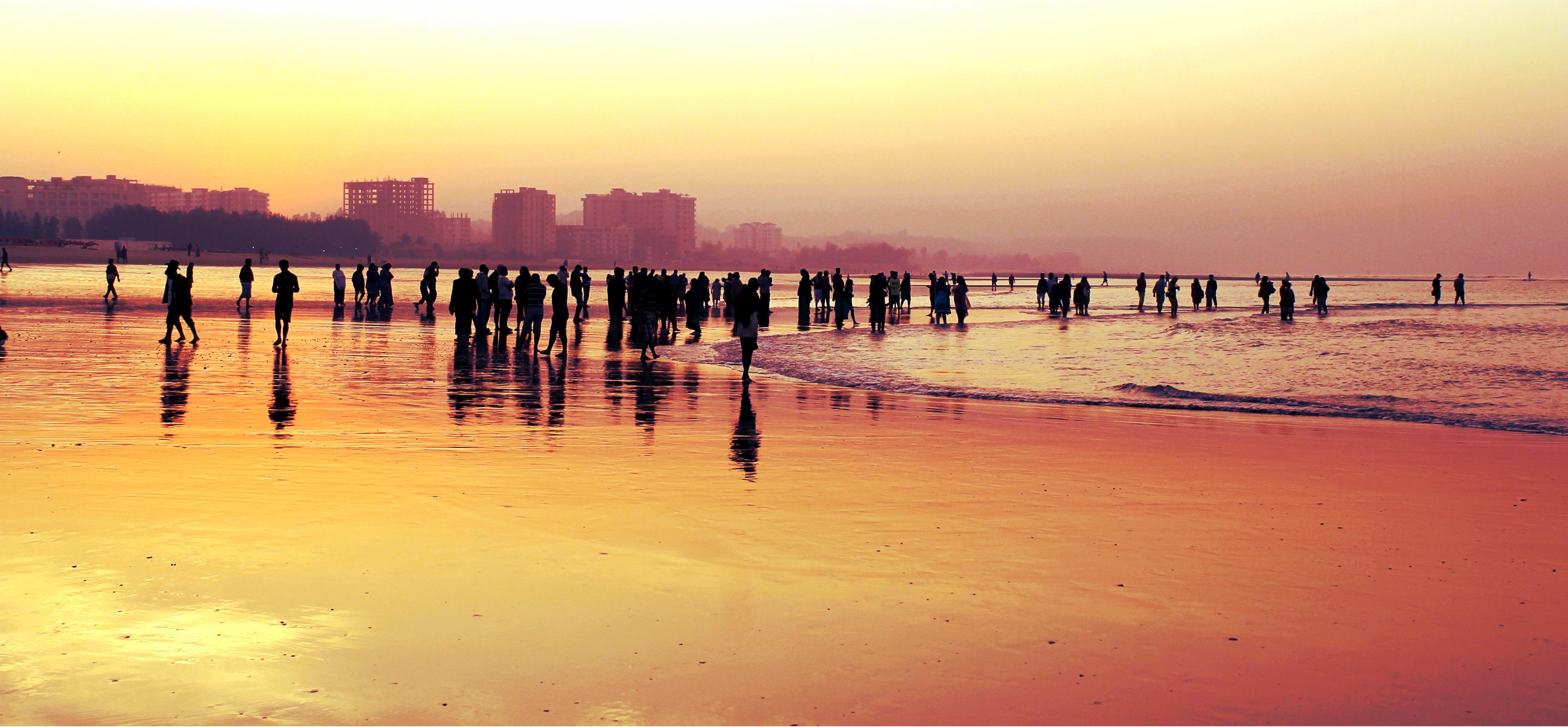 Gambar Manusia Laut Pasir Lautan Horison Bayangan