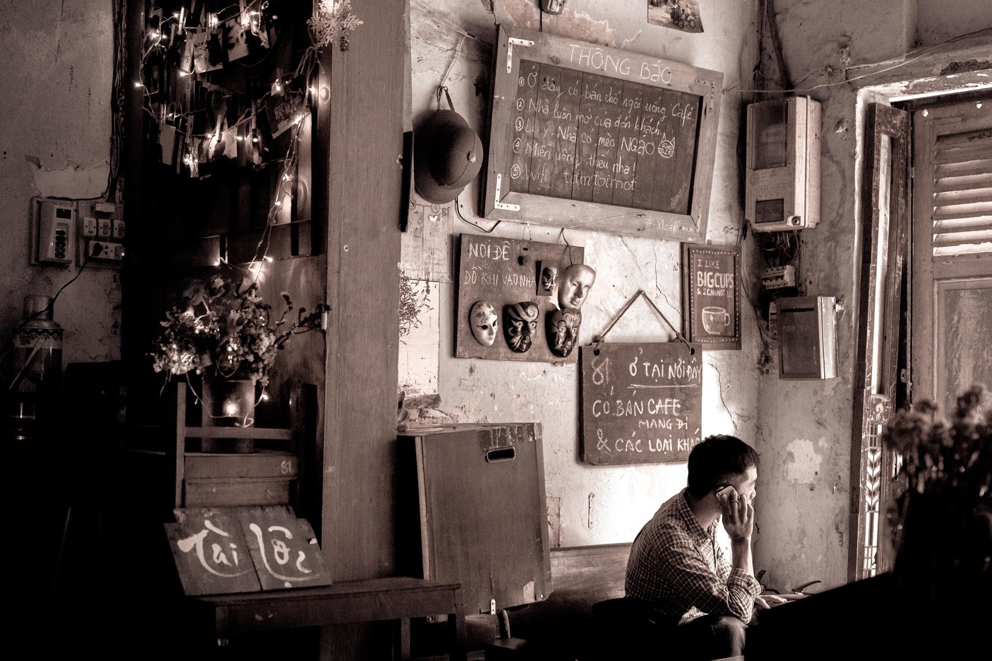 Gambar Kedai Kopi Hitam Putih Gambar Manusia Kafe Kedai Kopi Hitam Dan Putih Jalan
