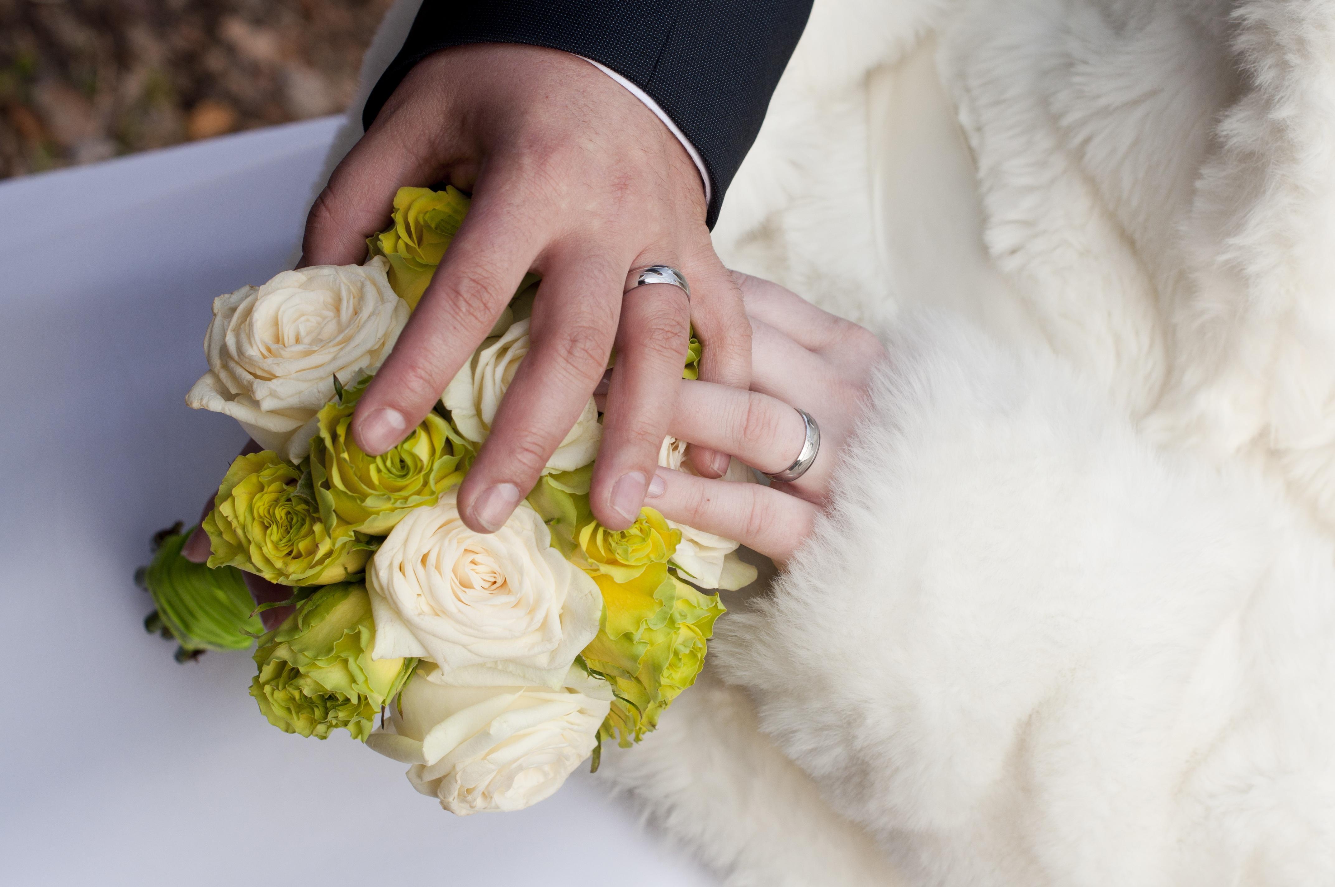 Free Images : man, girl, woman, petal, couple, yellow, wedding dress ...
