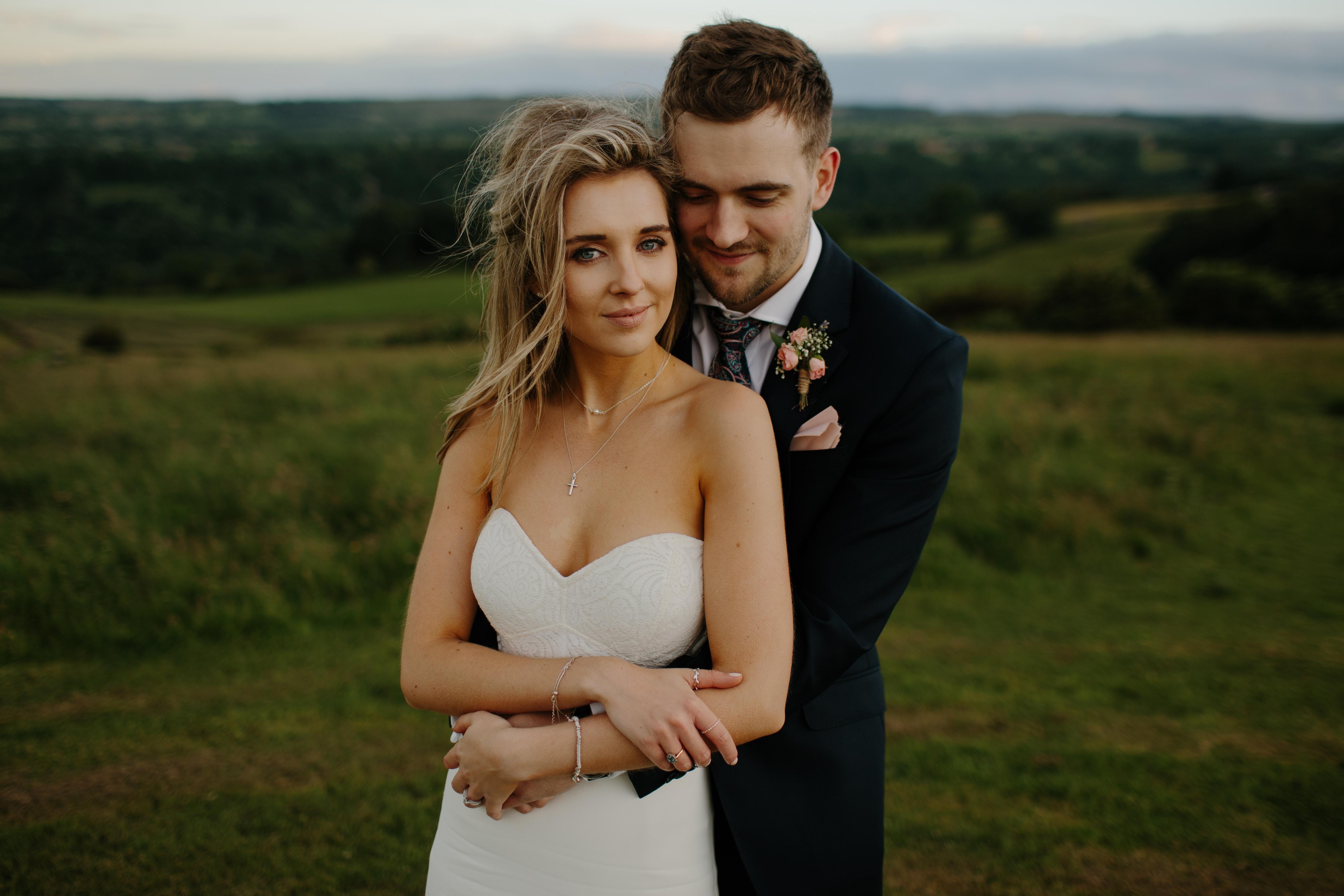 Free Images : man, grass, girl, woman, field, romance, wedding dress ...