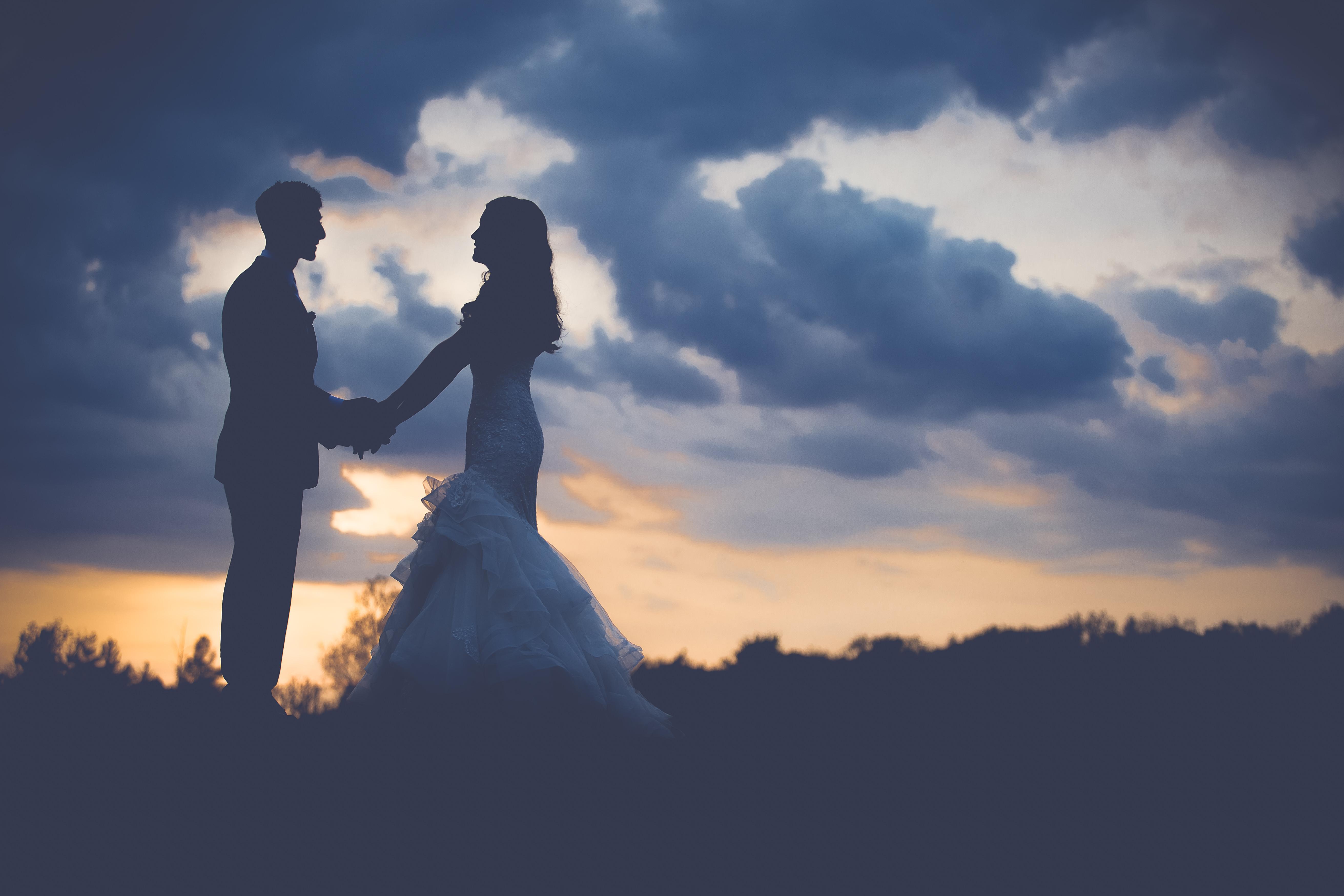 Man Horizon Silhouette Cloud People Sky Sunrise Sunset Sunlight Morning Dawn Dusk Love Romance Together