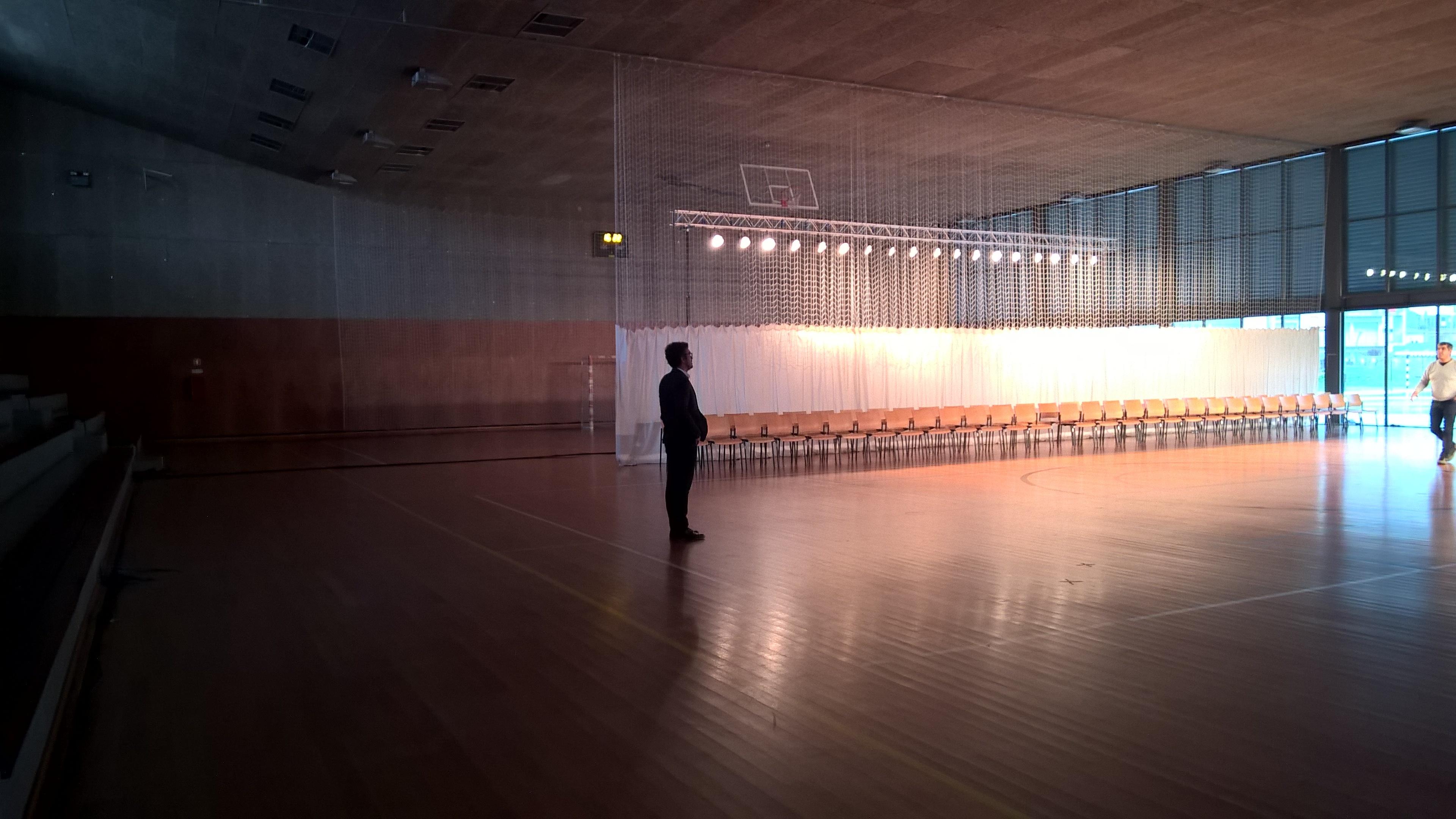 Free images man light structure auditorium floor