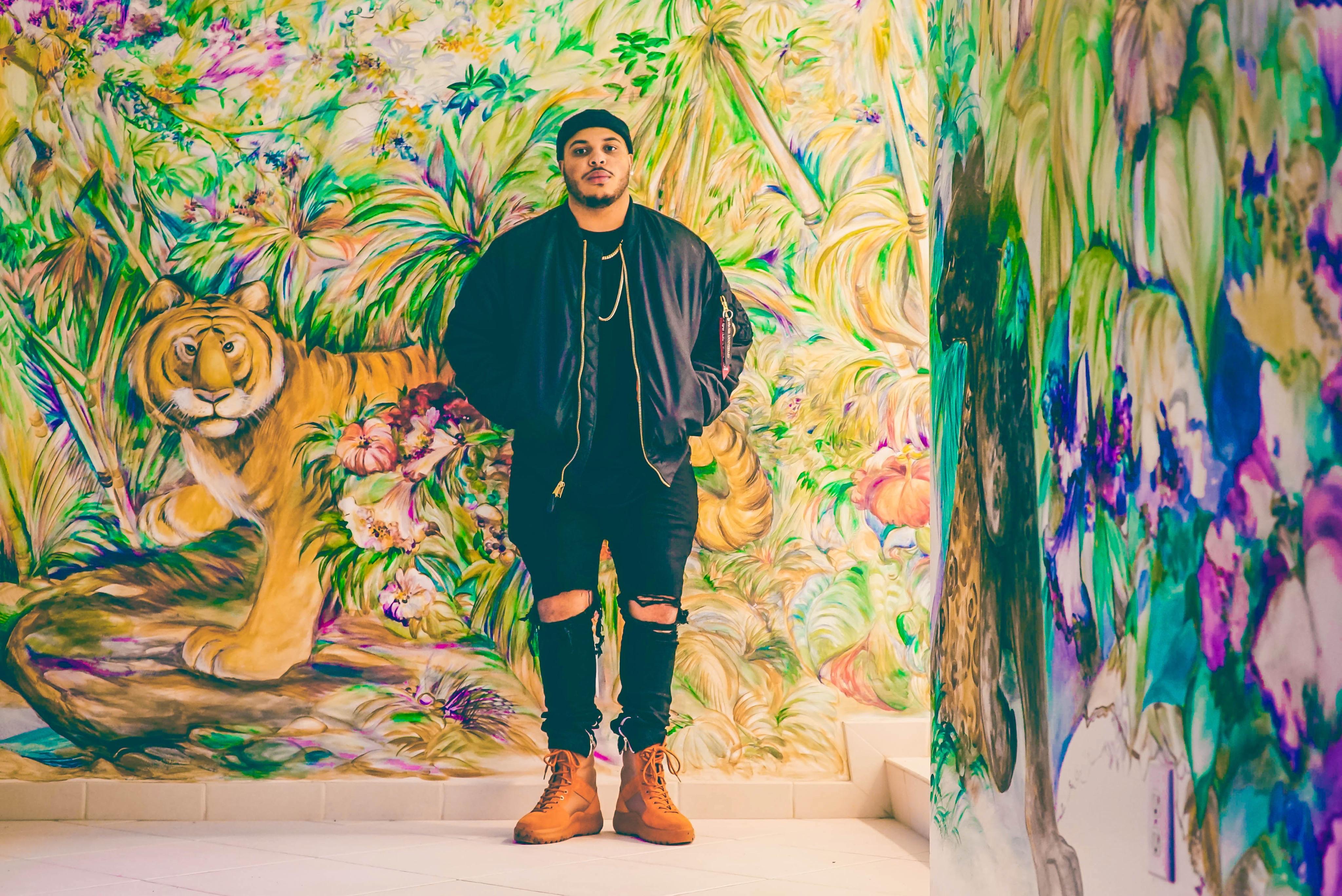 Fotoğraf Adam Erkek Ayakta Renk Resim Boyama çizim