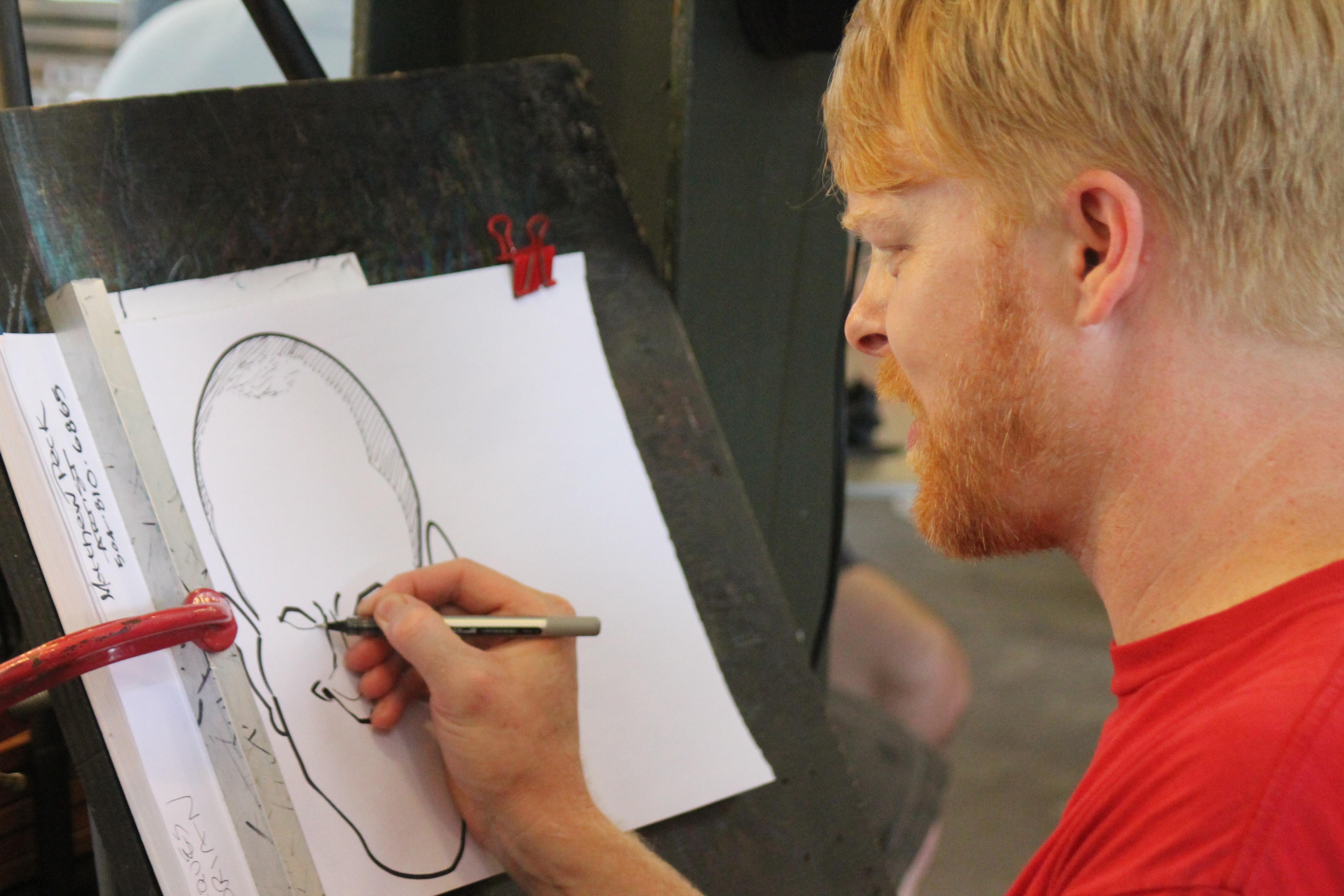 Gambar Manusia Orang Artis Seniman Jalanan Gambar Karikatur