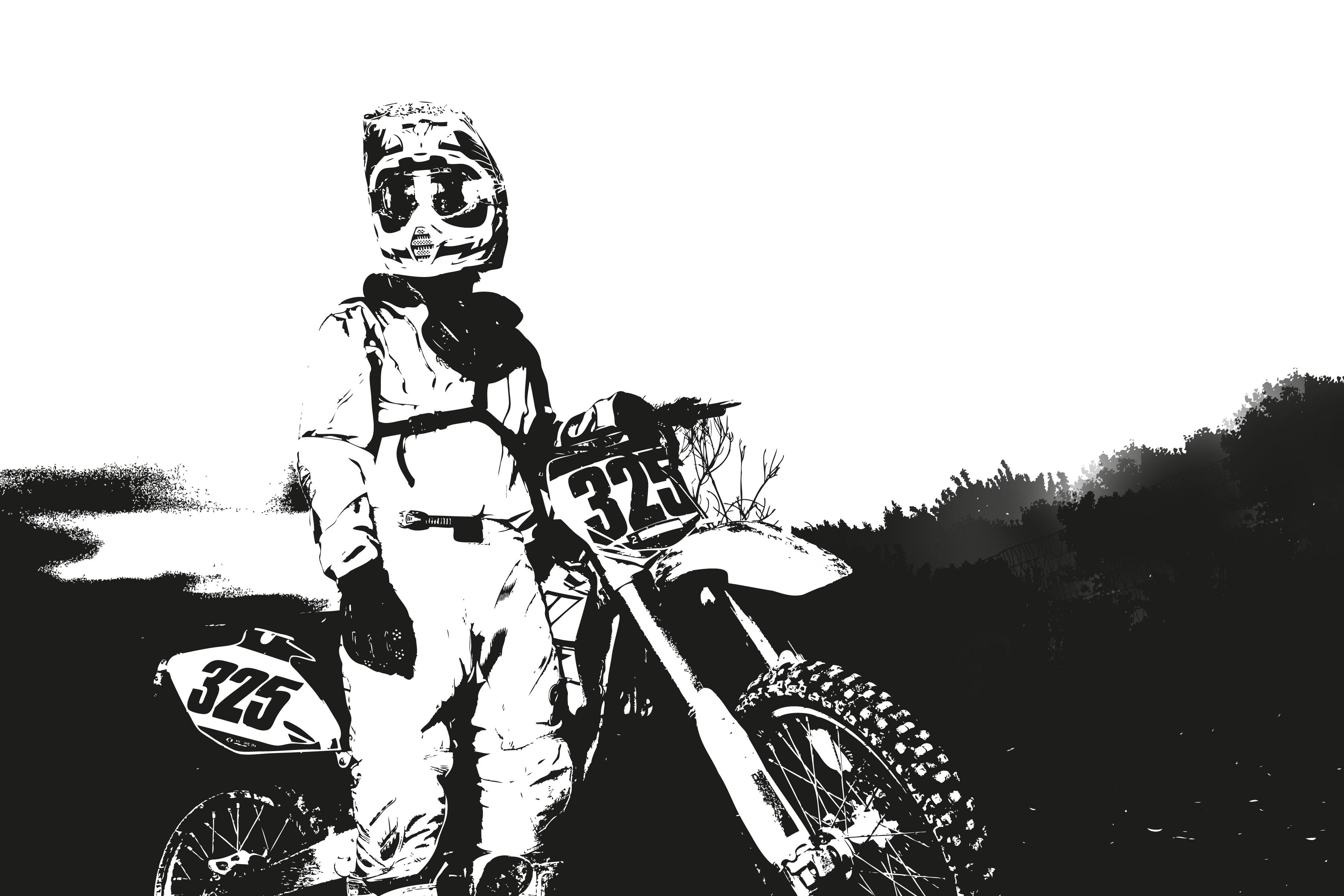 Gambar Manusia Orang Hitam Dan Putih Olahraga Sepeda