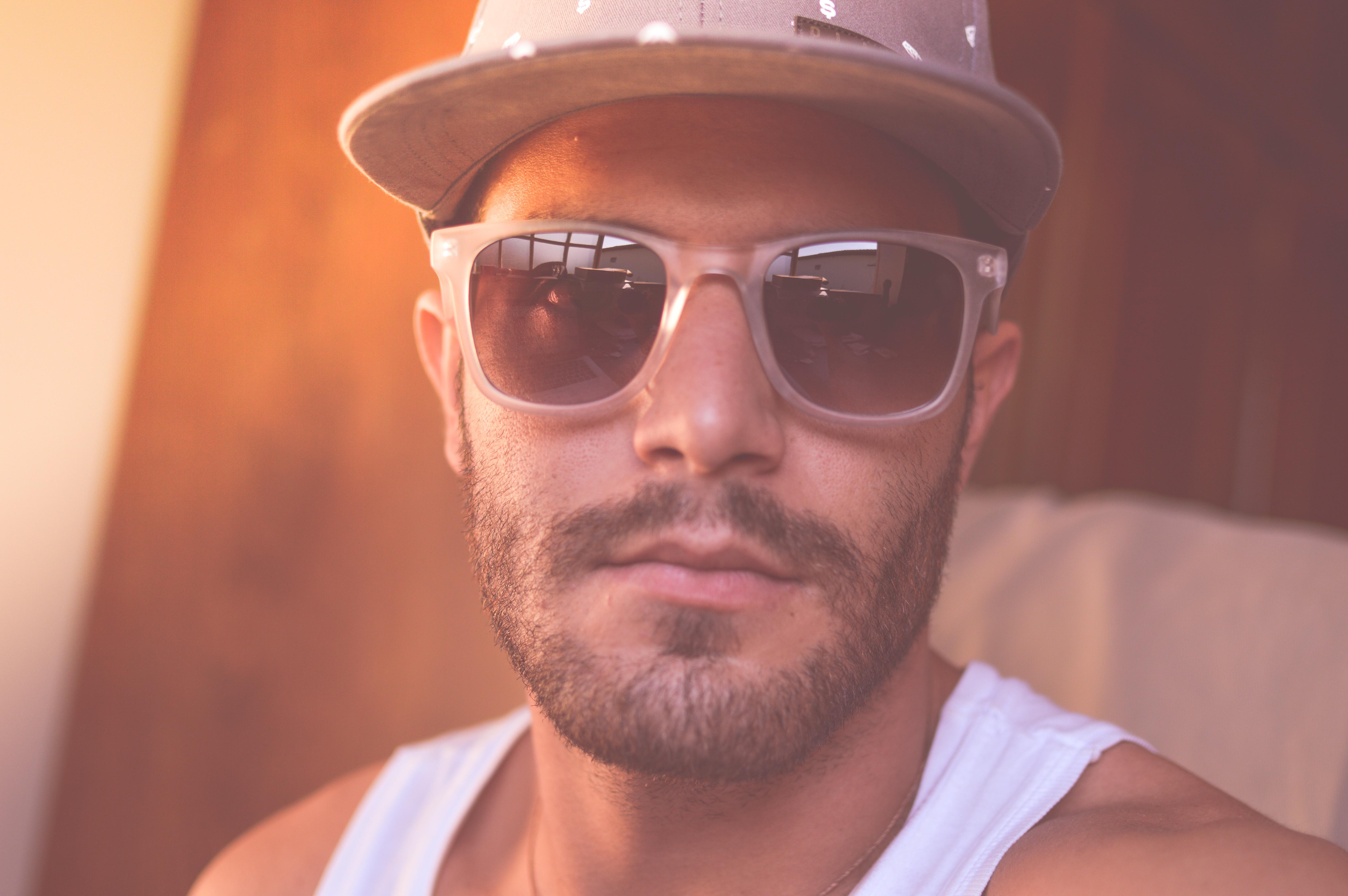 02c01fe46e8 man person hair male portrait color hat hairstyle beard face nose sunglasses  glasses selfie head moustache