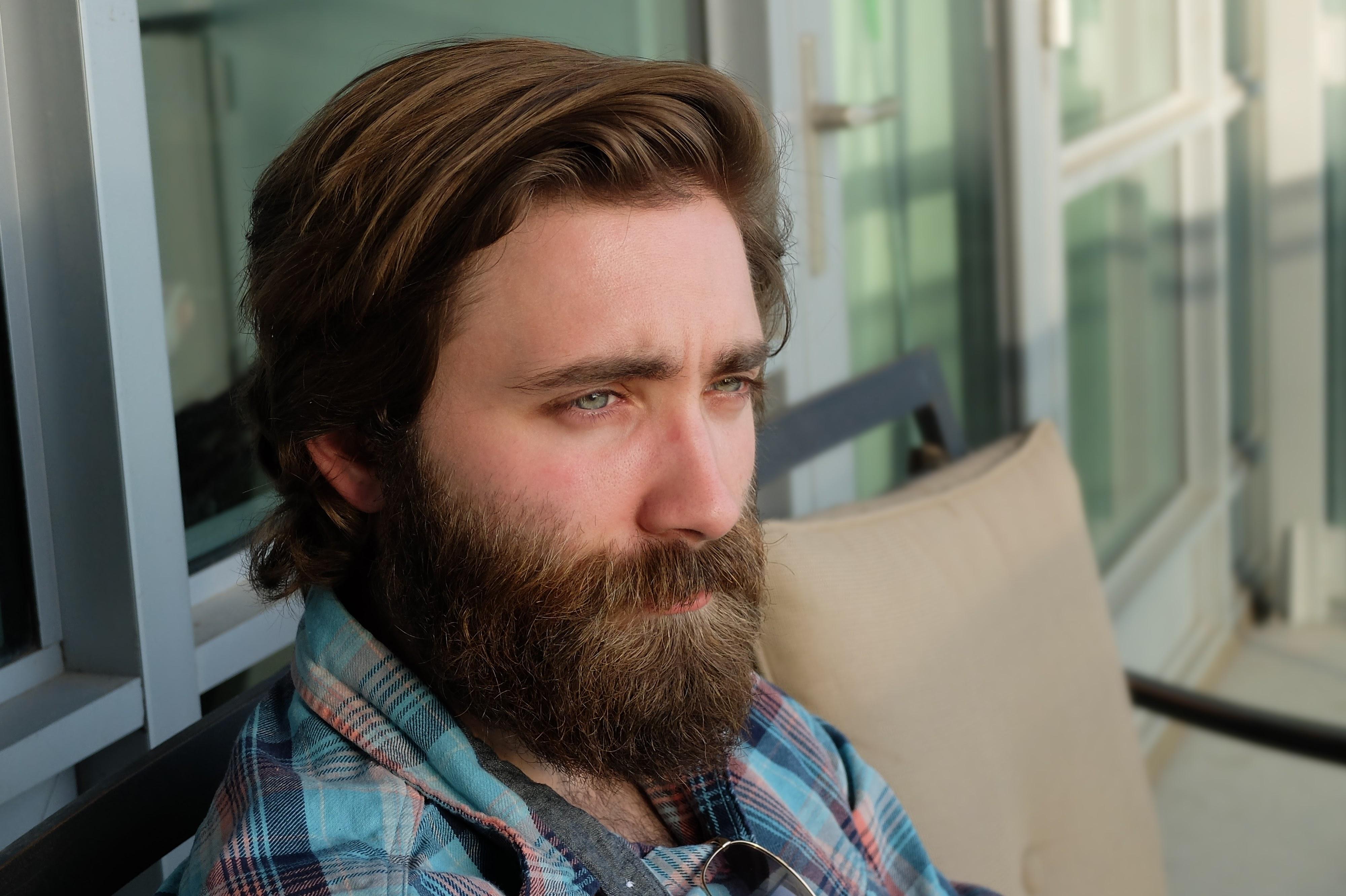 1678eef963d4 man person hair male portrait hairstyle beard conversation face glasses  head facial hair