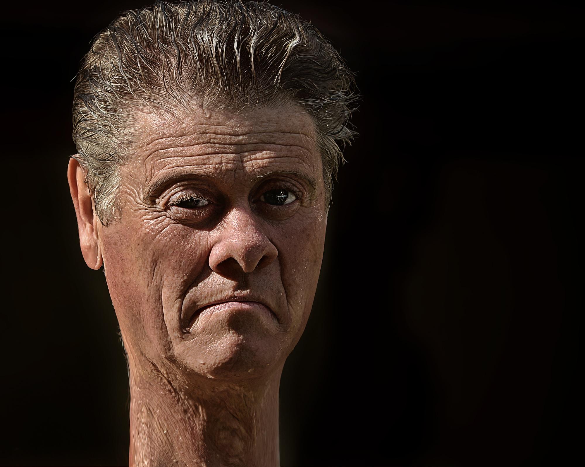 Gambar Manusia Orang Pria Potret Menghadapi Hidung Angka