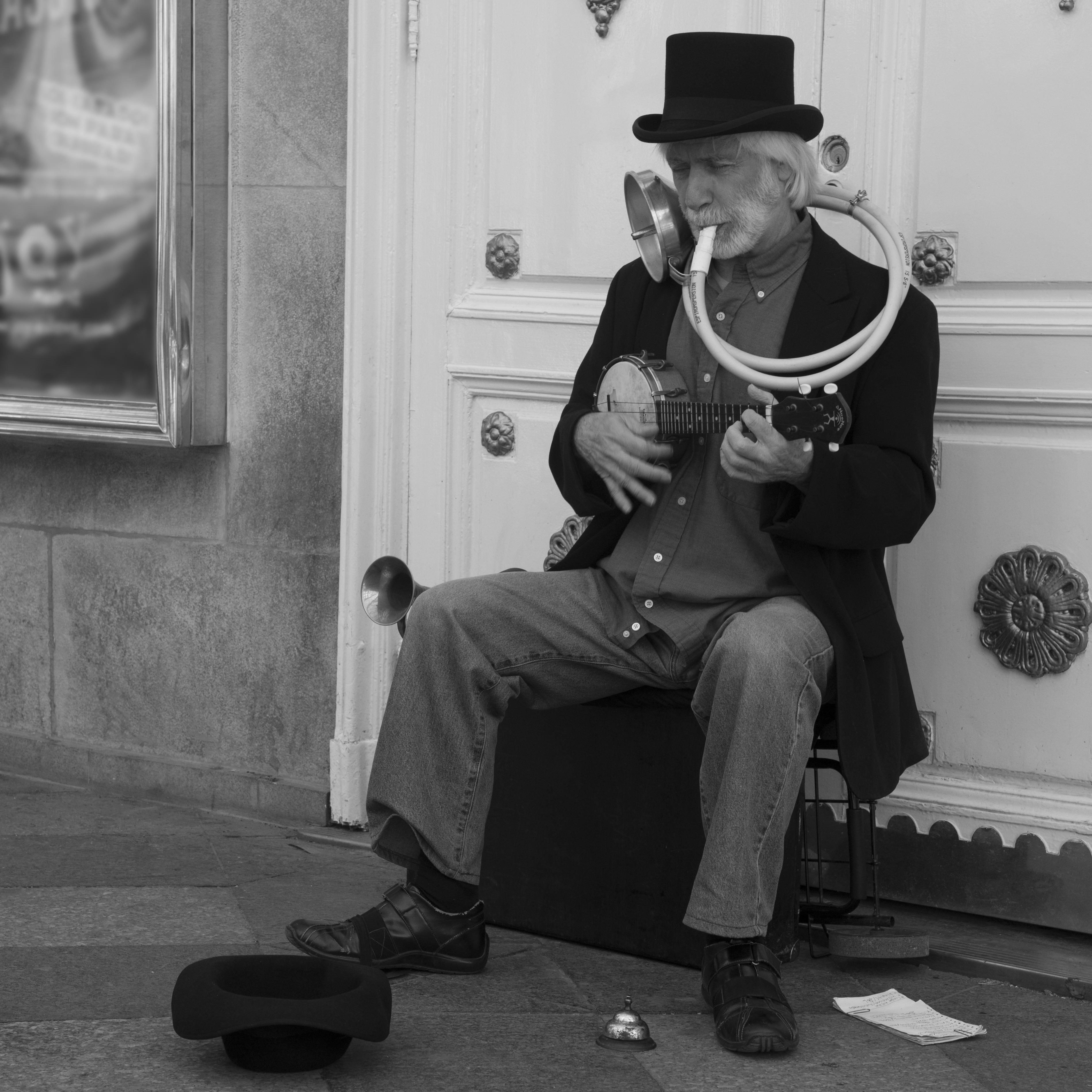 Ideal Kostenlose foto : Mann, Person, Musik-, Schwarz und weiß, Menschen  RG85