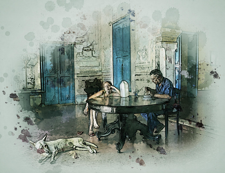 Gambar Manusia Orang Orang Orang Gadis Anjing Hewan