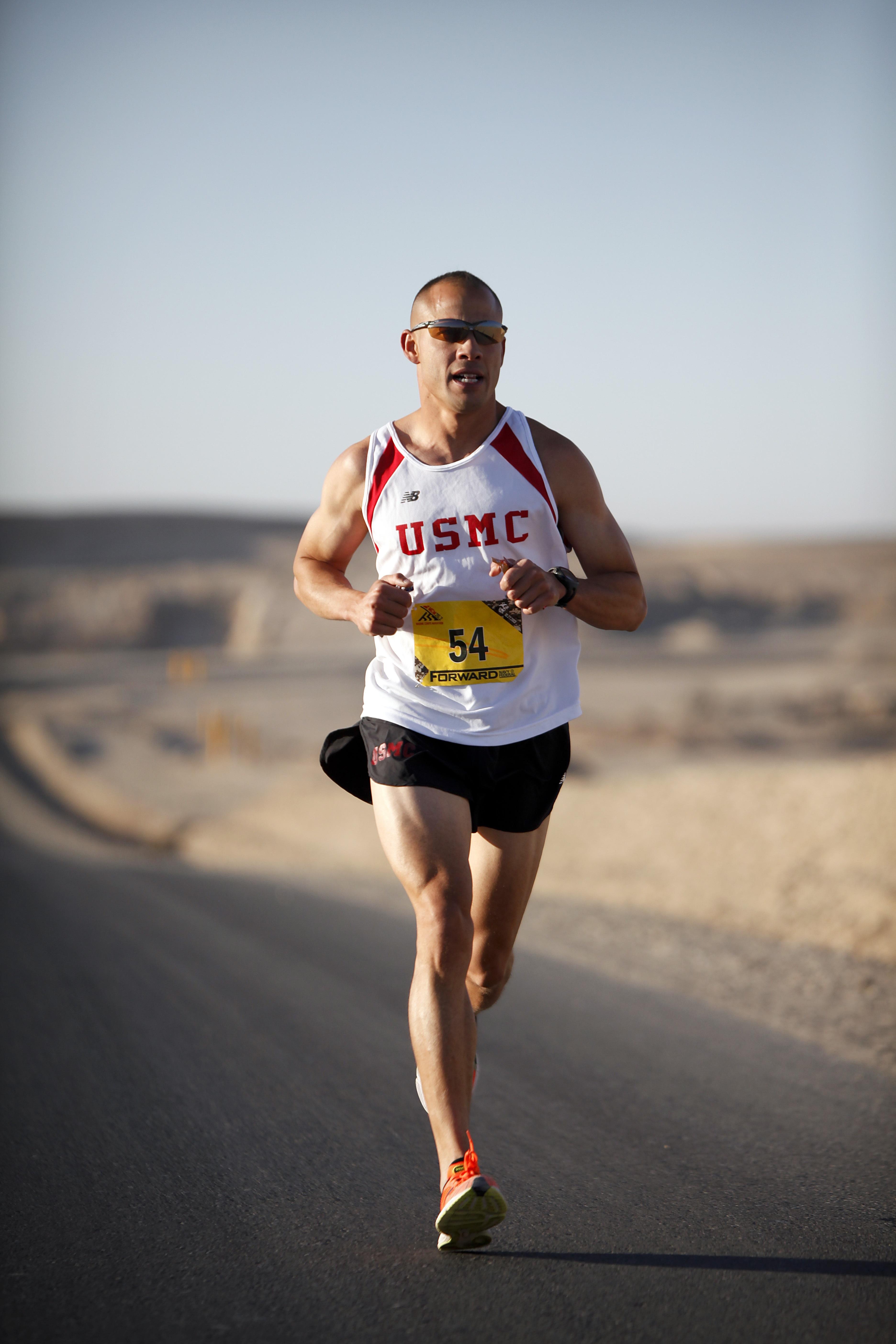 Man Running - Trail Runner Training Stock Photo - Image ... |Marathon Man Running