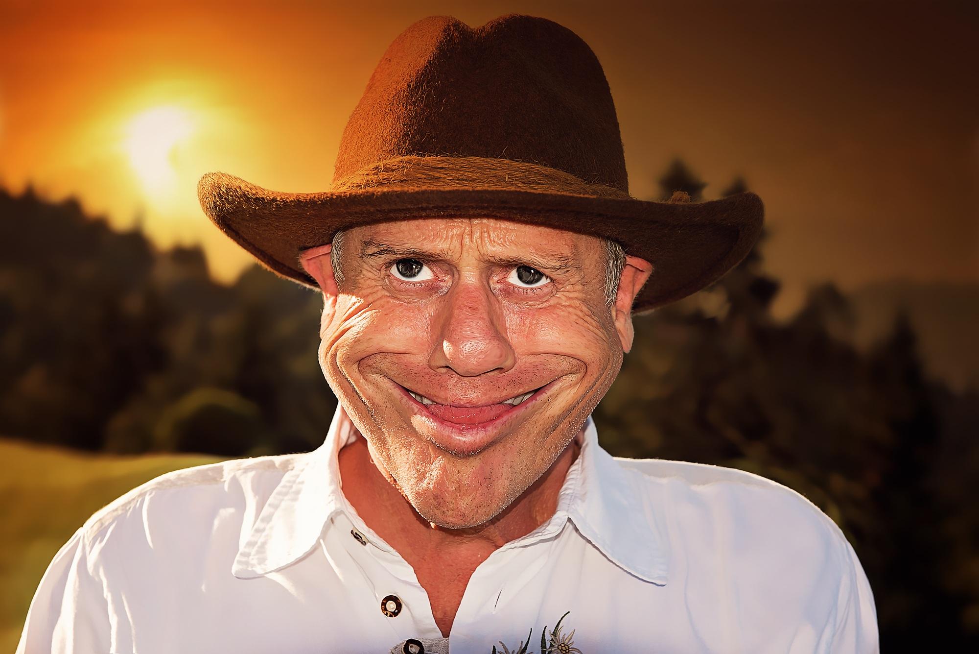 Gambar Manusia Orang Matahari Terbenam Pria Potret Topi