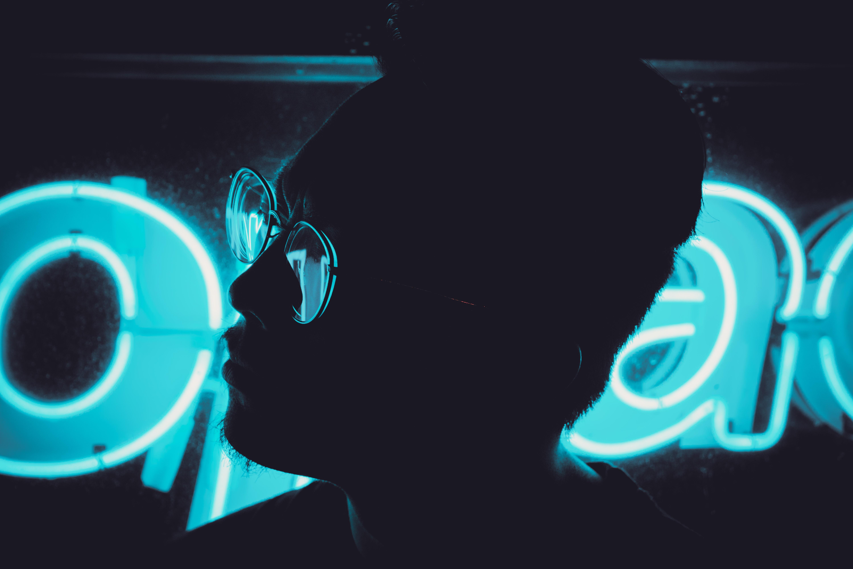 free images : man, silhouette, light, technology, portrait, blue