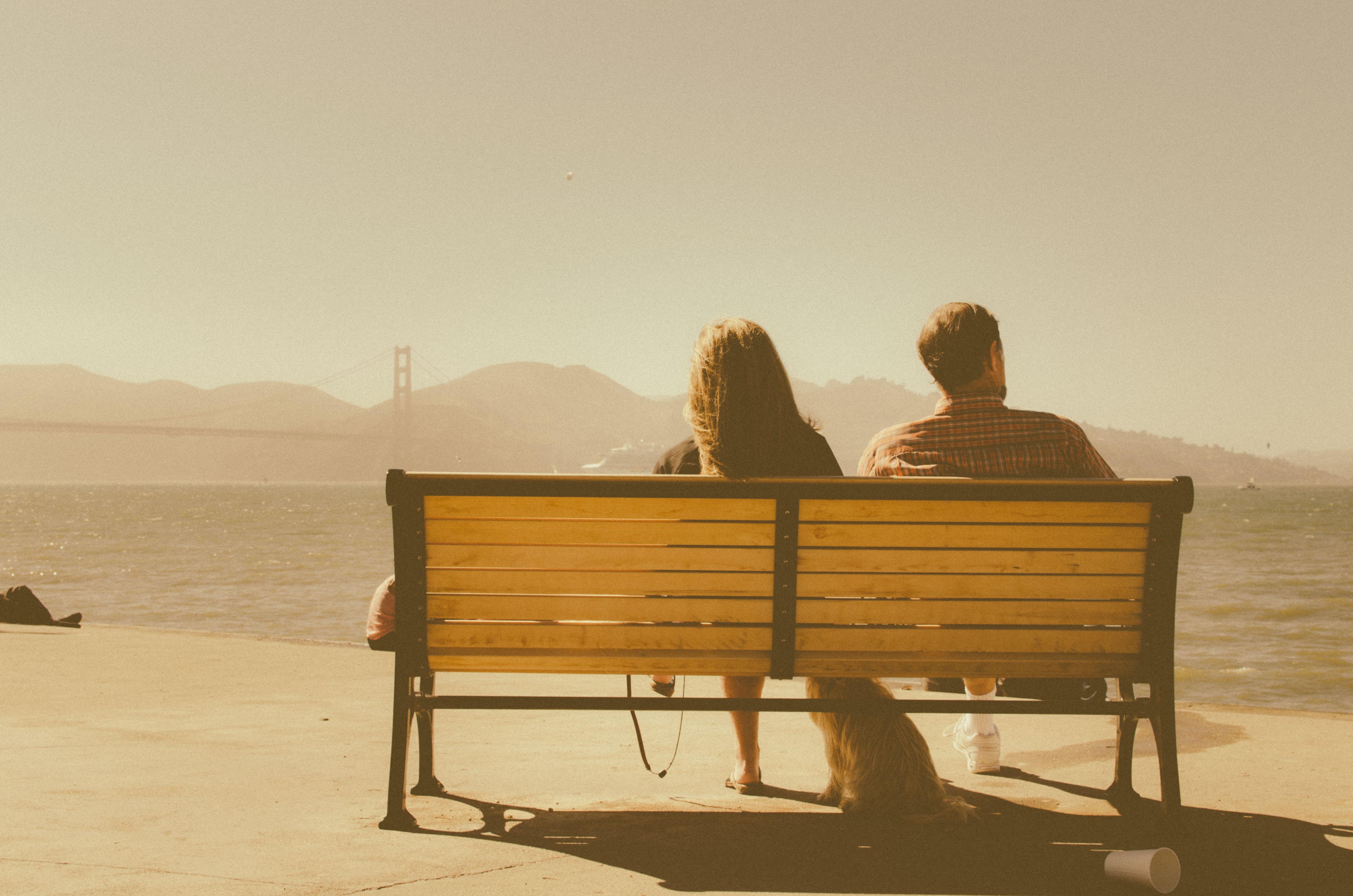 Free Images : man, table, sea, ocean, people, wood, woman