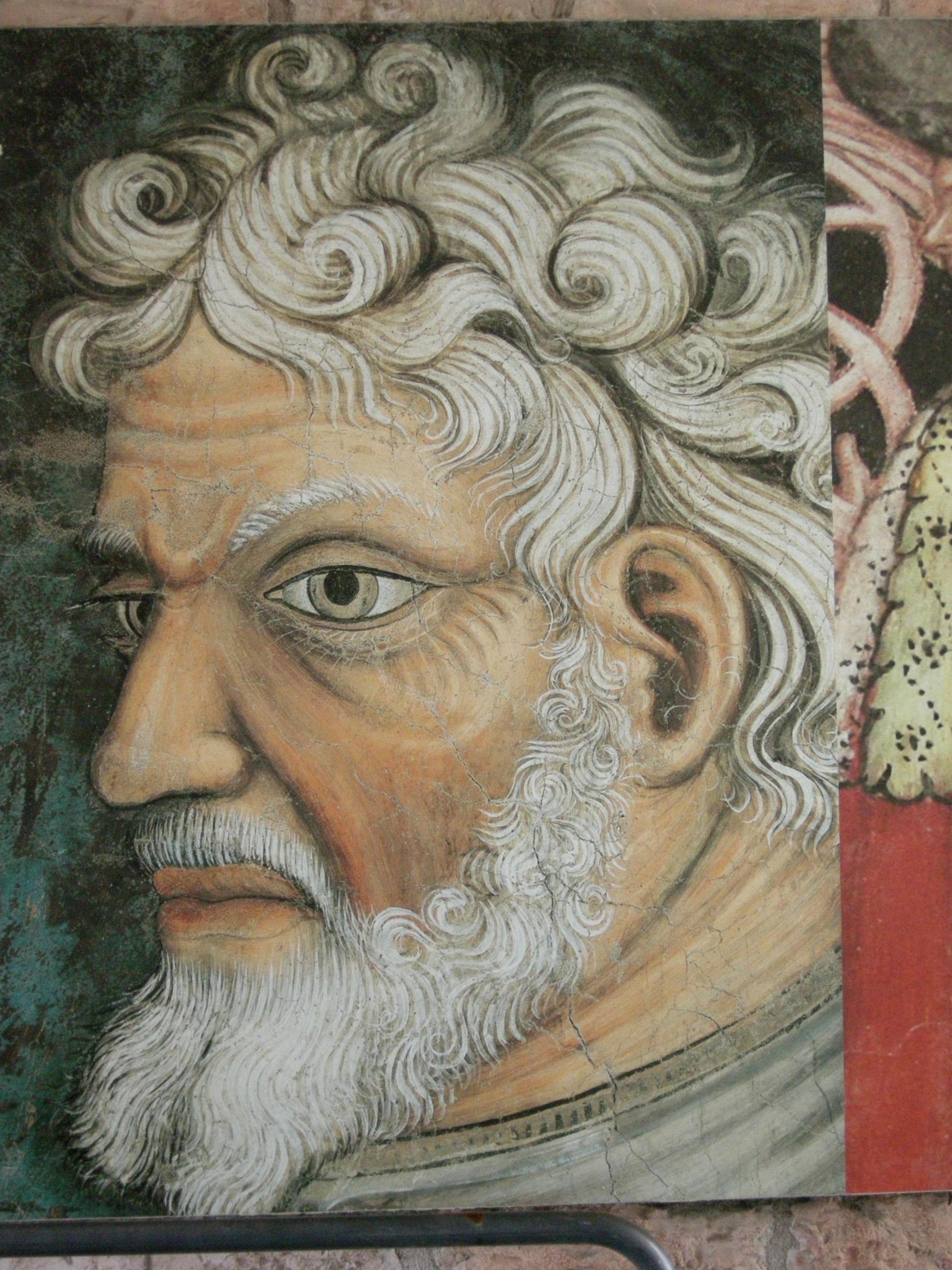 Fotoğraf Portre Duvar Yazısı Sakal Yaşlı Adam Boyama Yüz