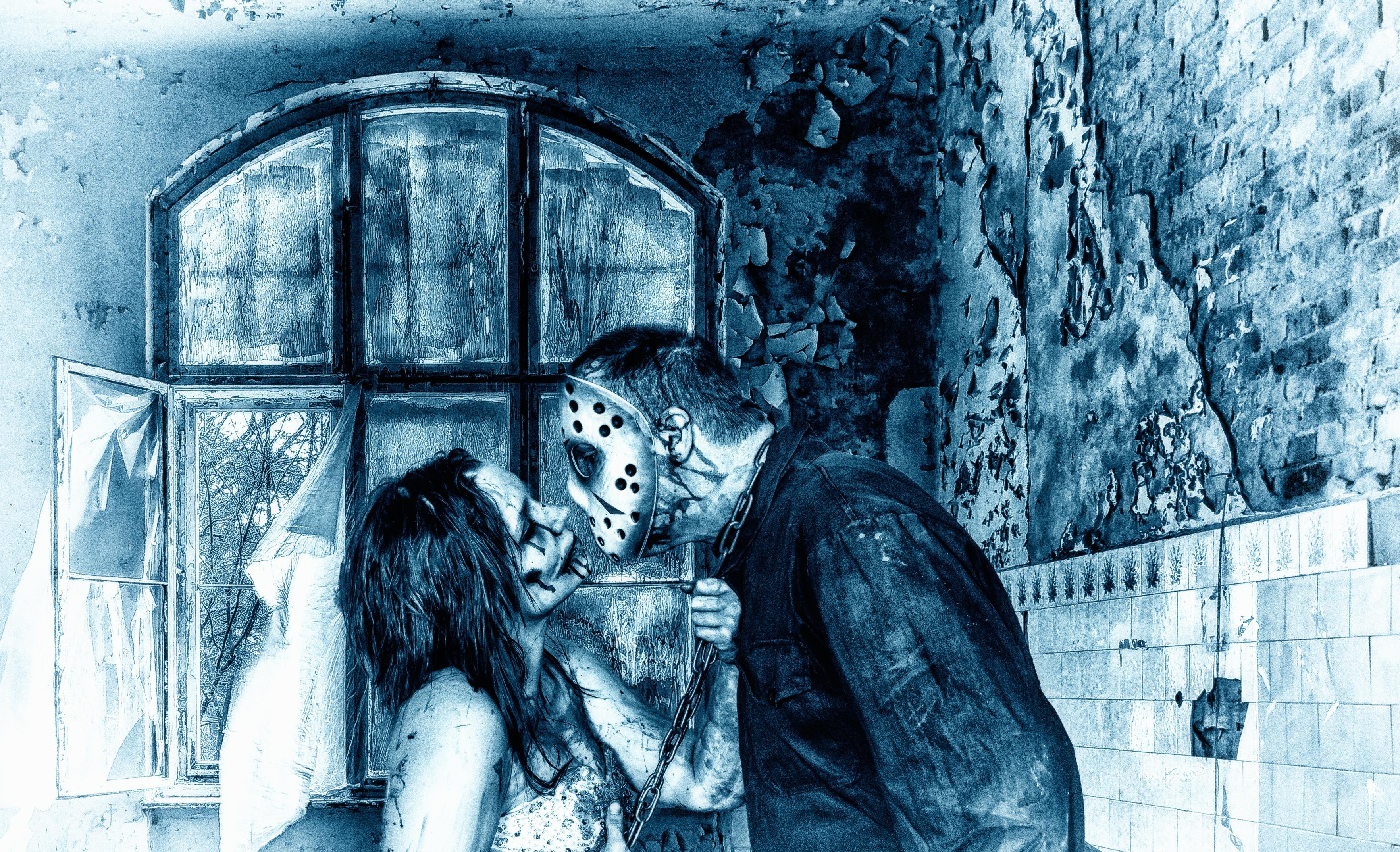 Gambar manusia wanita jendela cinta ciuman sepasang percintaan romantis bersama makanan seni kasih sayang zombie sketsa gambar ilustrasi