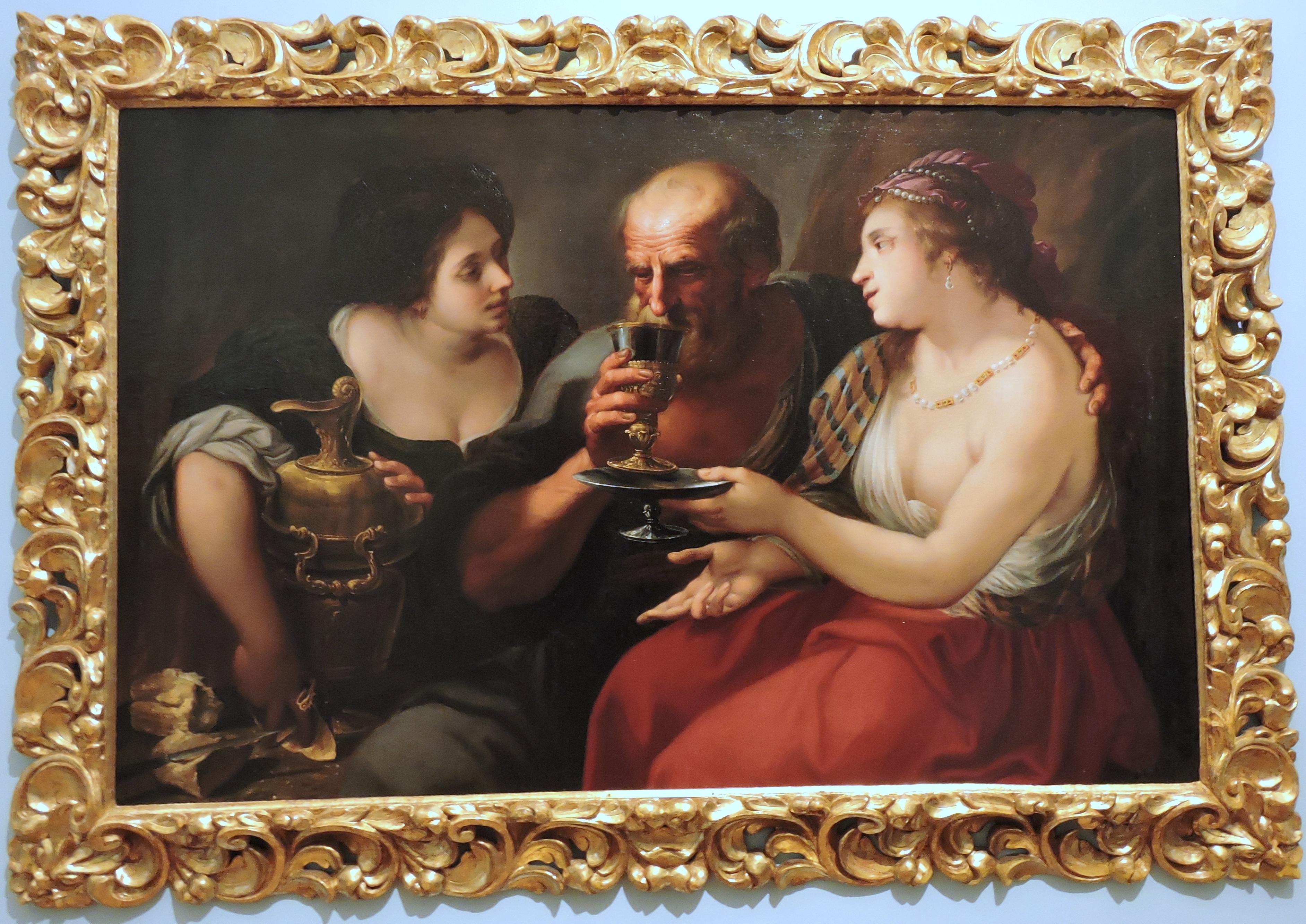 Kostenlose foto : Mann, Frau, Wein, Museum, Getränk, Malerei ...