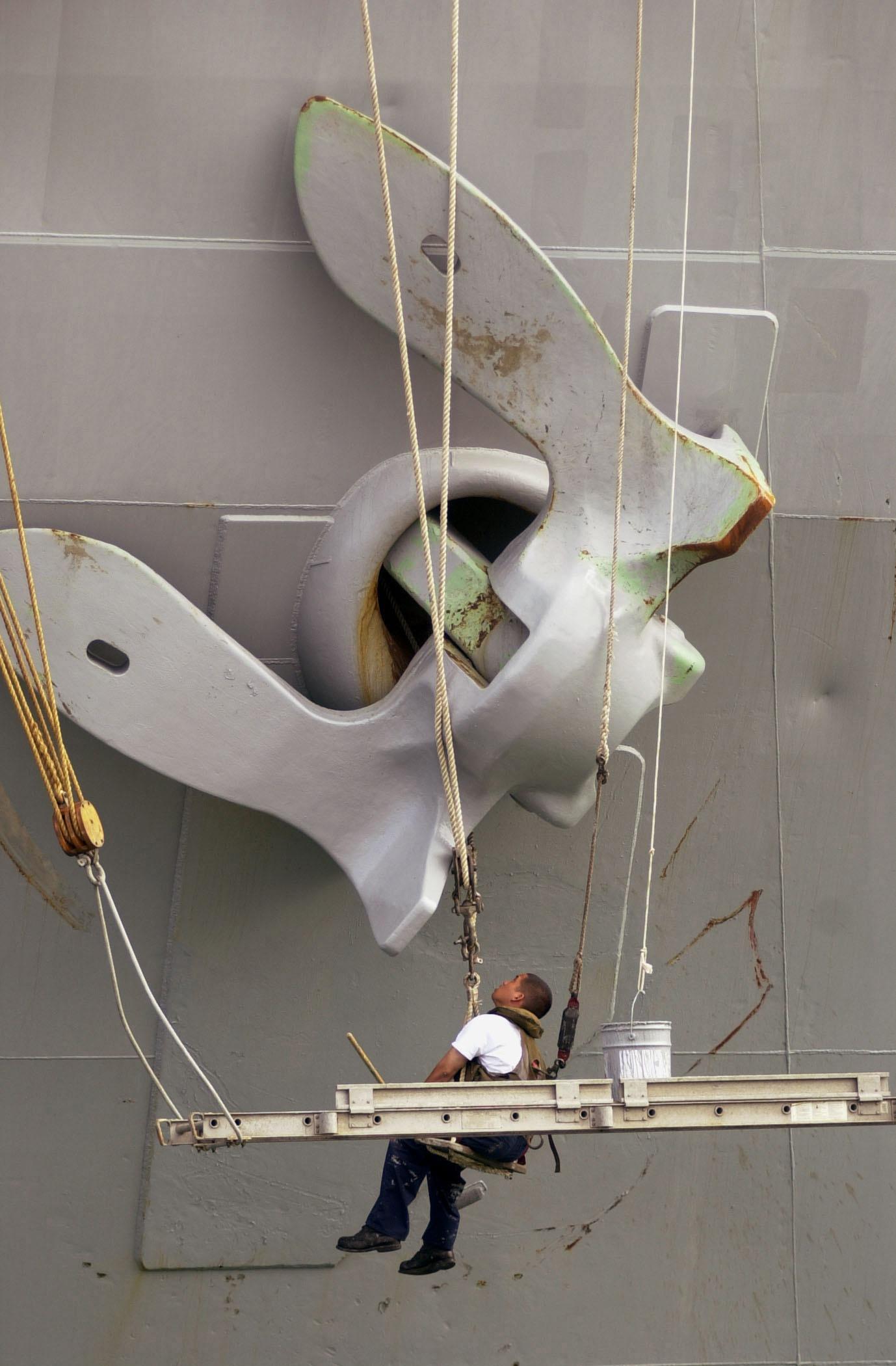 Free Images : man, working, wing, ship, repair, vehicle ...