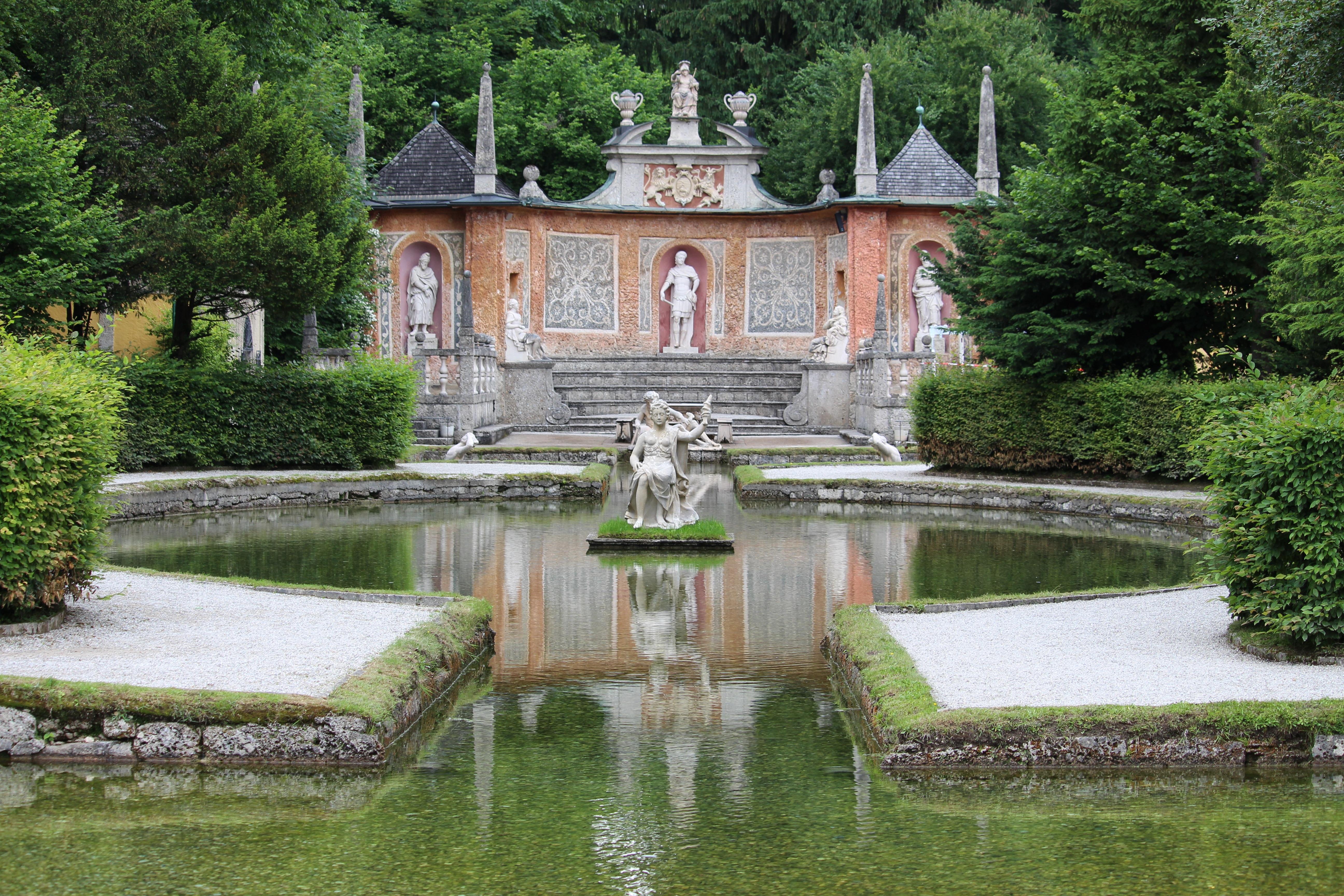 Villa Chateau Palast Teich Park Schloss Garten Wasserweg Schrein Immobilien  Wasser Funktion Salzburg Graben Herrenhaus