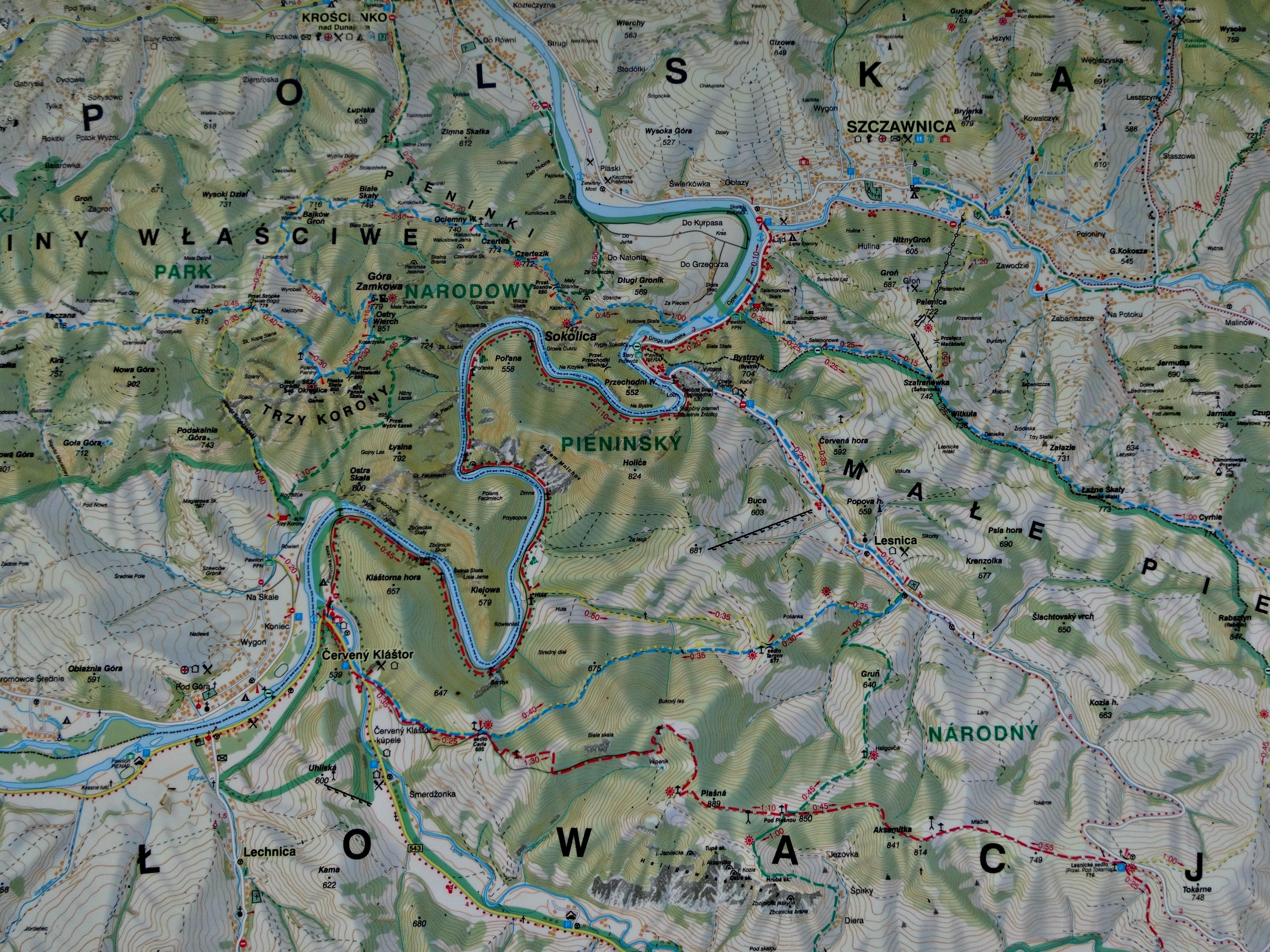 turstier kart Bildet : kart, Polen, turstier, Pieniny, flyfotografering  turstier kart