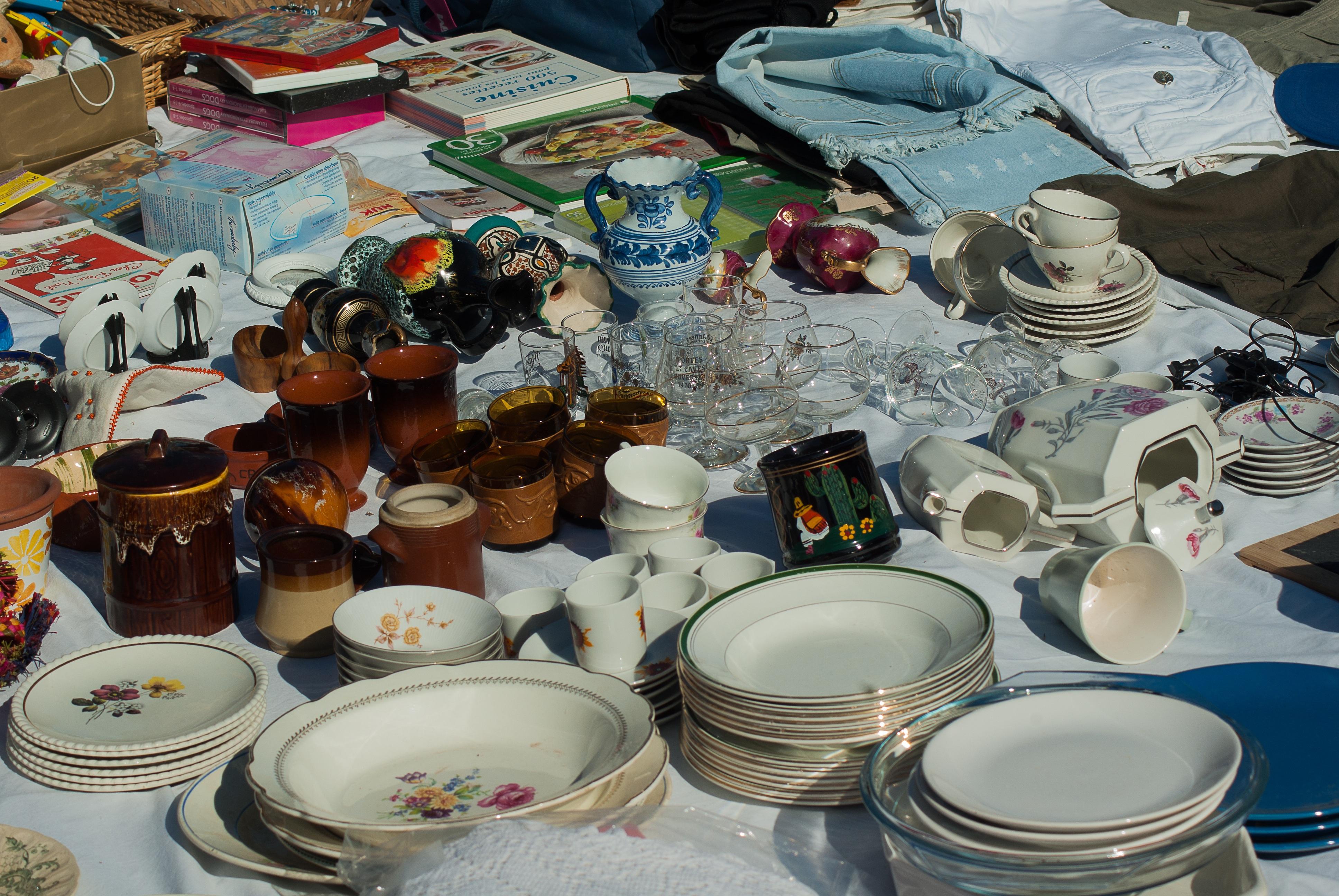 meal market art dishes flea market chips vide grenier & Free Images : meal art dishes flea market chips vide grenier ...