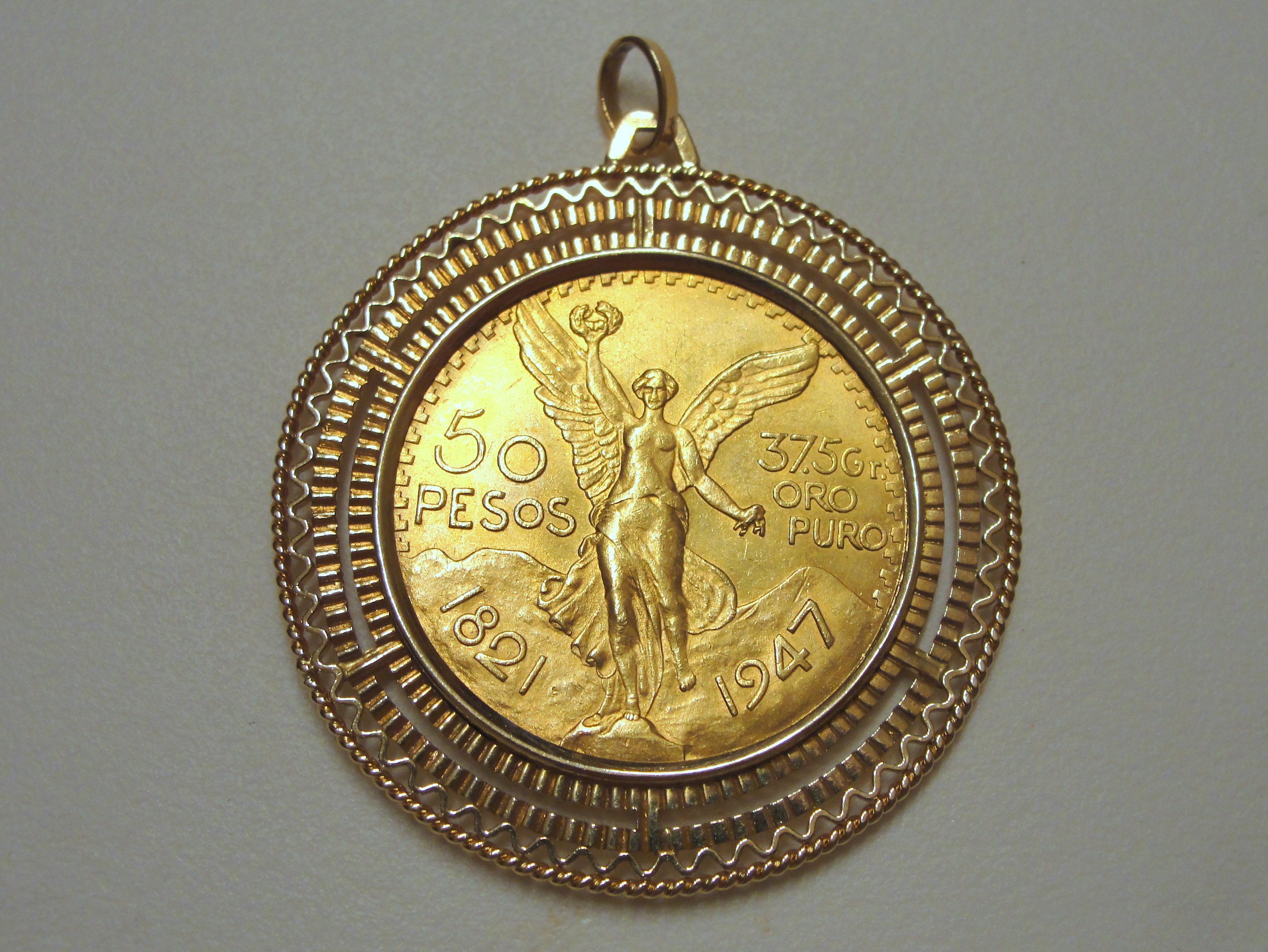 Kostenlose Foto Mexikaner Gold Münze Medaillon Schmuck