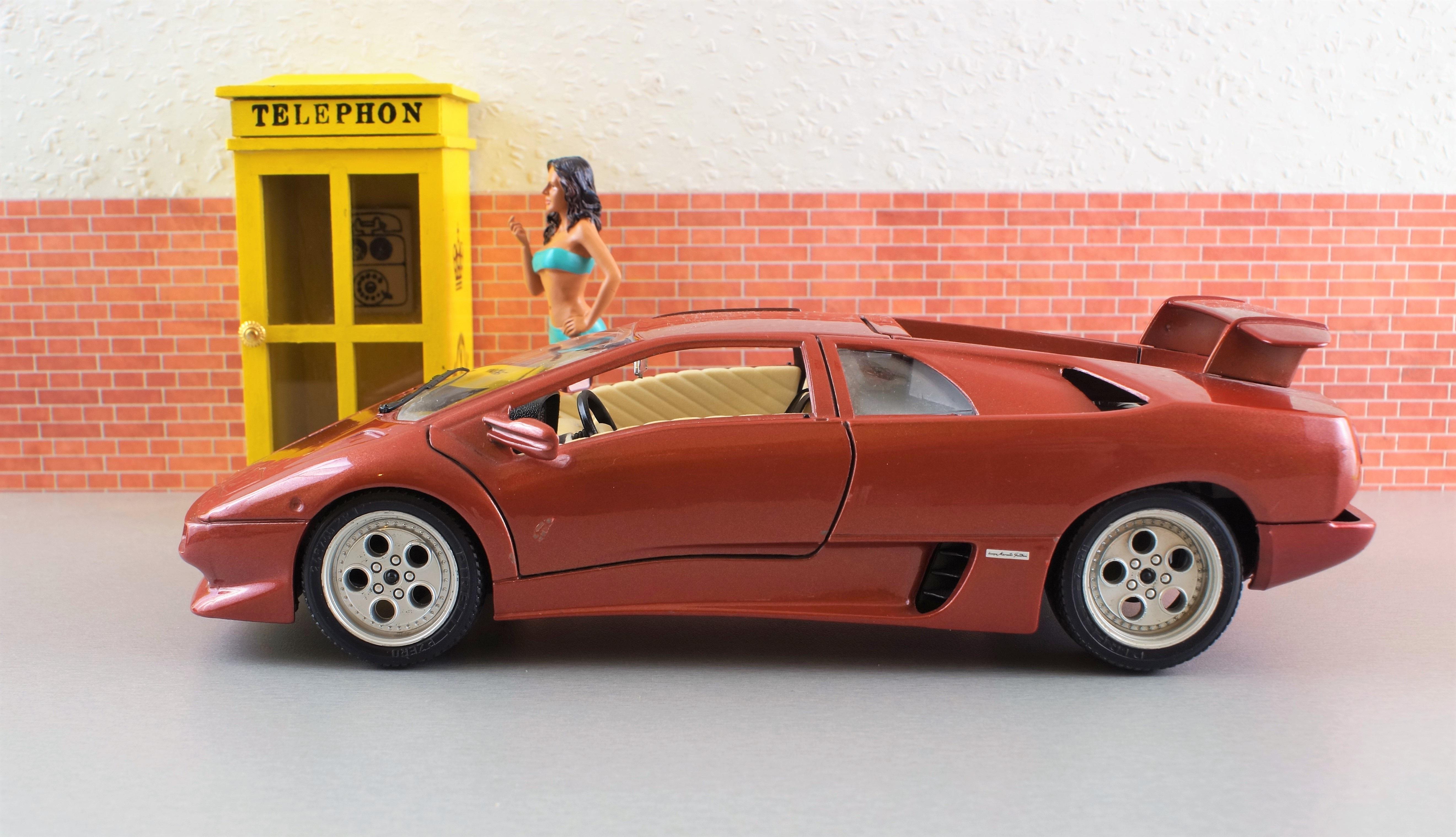 Model Car Lamborghini Diablo Vehicles Model Automotive Toys Sports Car Auto  Oldtimer